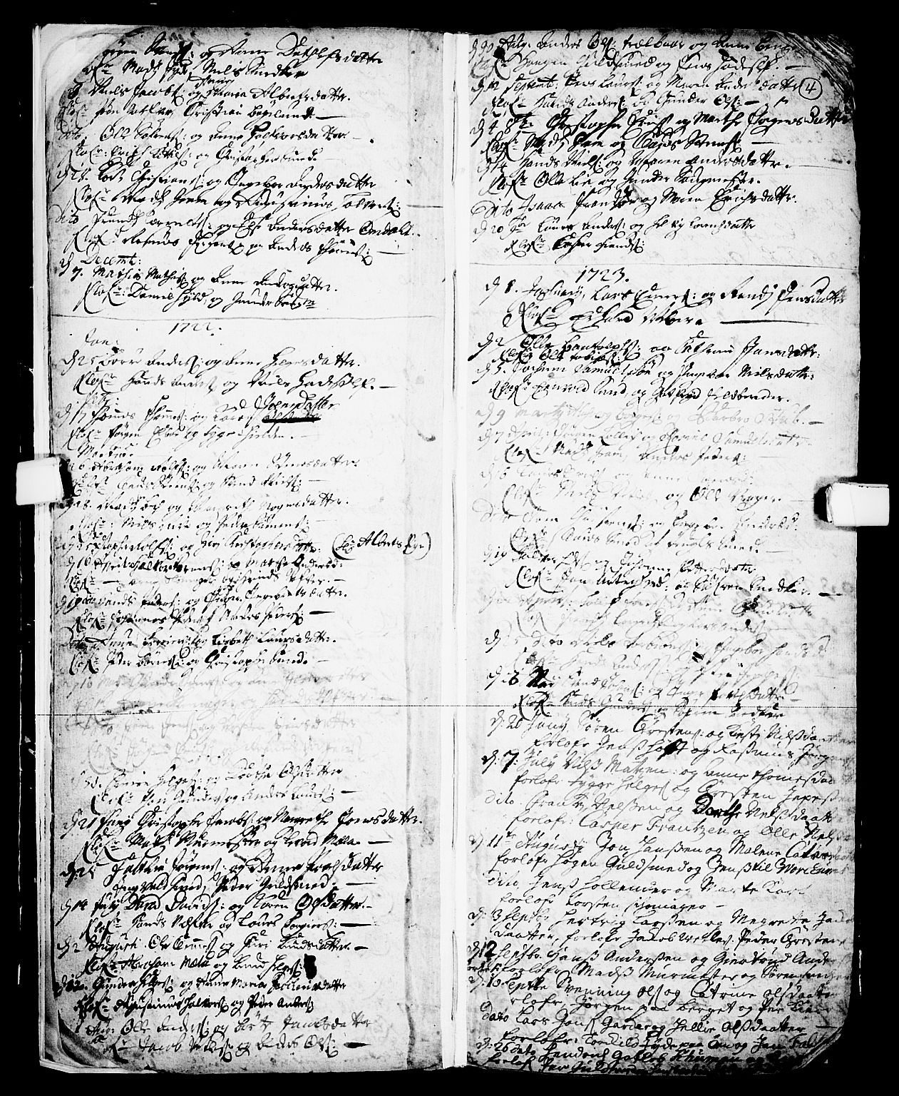 SAKO, Skien kirkebøker, F/Fa/L0002: Ministerialbok nr. 2, 1716-1757, s. 4