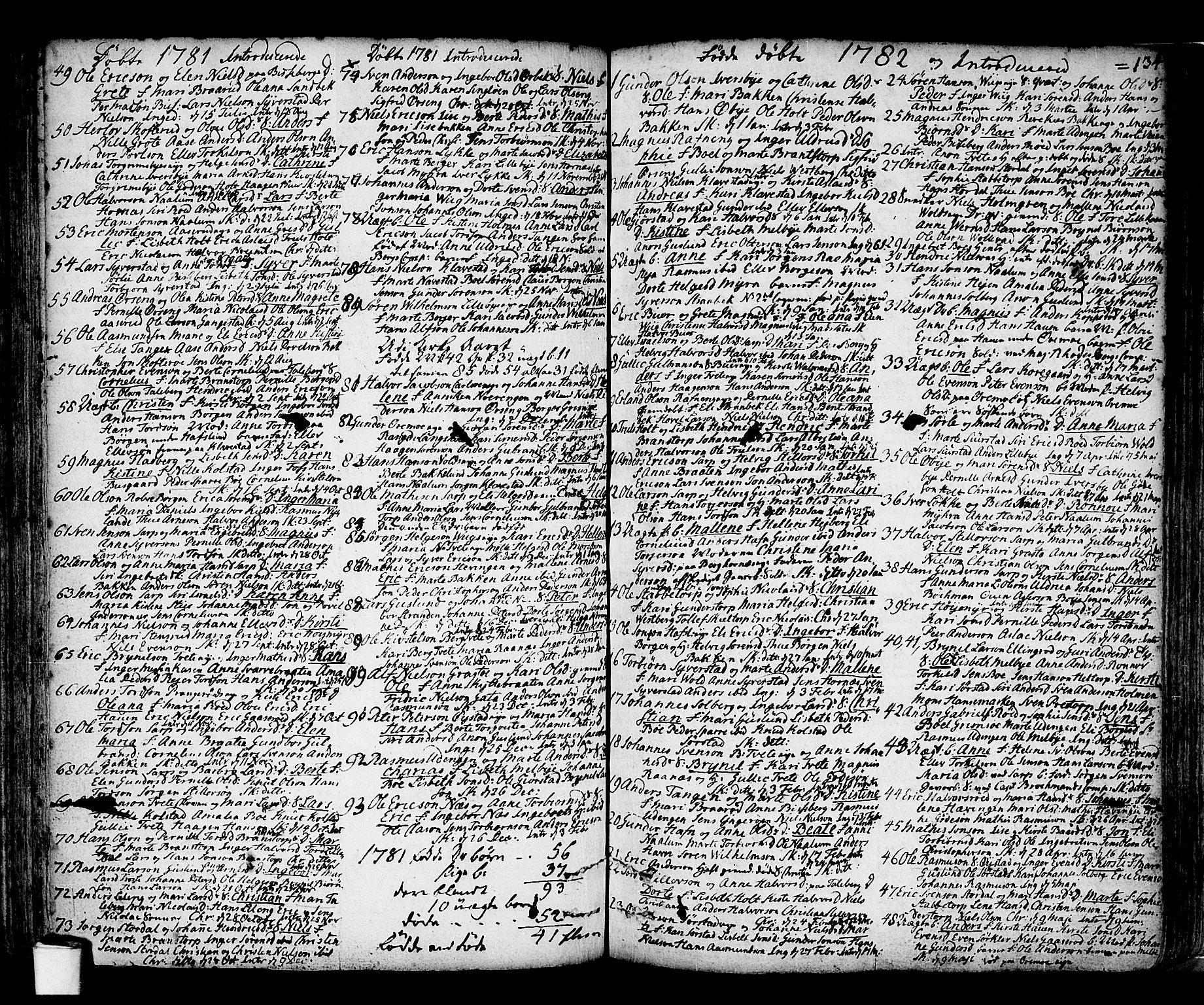 SAO, Skjeberg prestekontor Kirkebøker, F/Fa/L0002: Ministerialbok nr. I 2, 1726-1791, s. 134