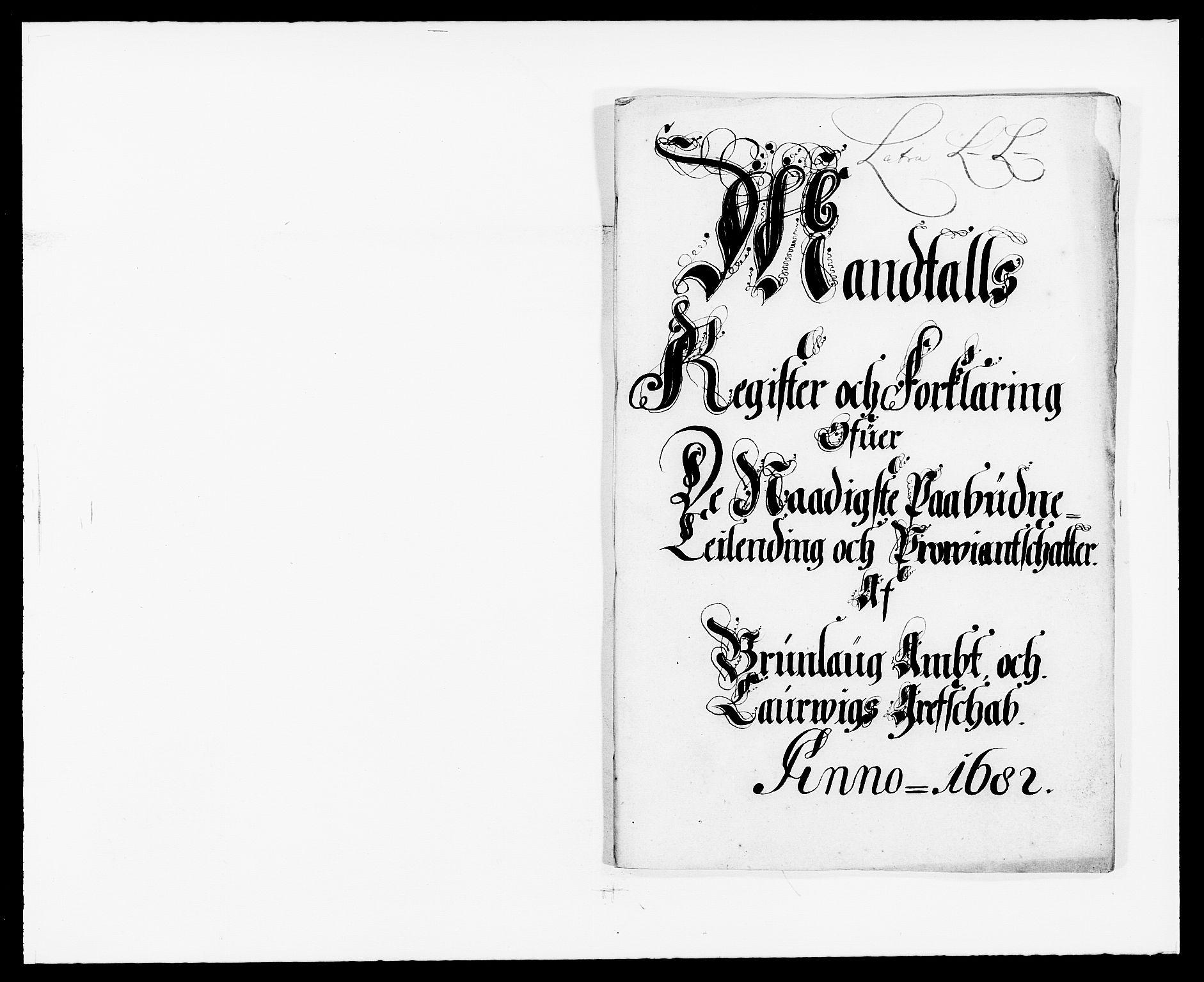 RA, Rentekammeret inntil 1814, Reviderte regnskaper, Fogderegnskap, R33/L1969: Fogderegnskap Larvik grevskap, 1675-1687, s. 95