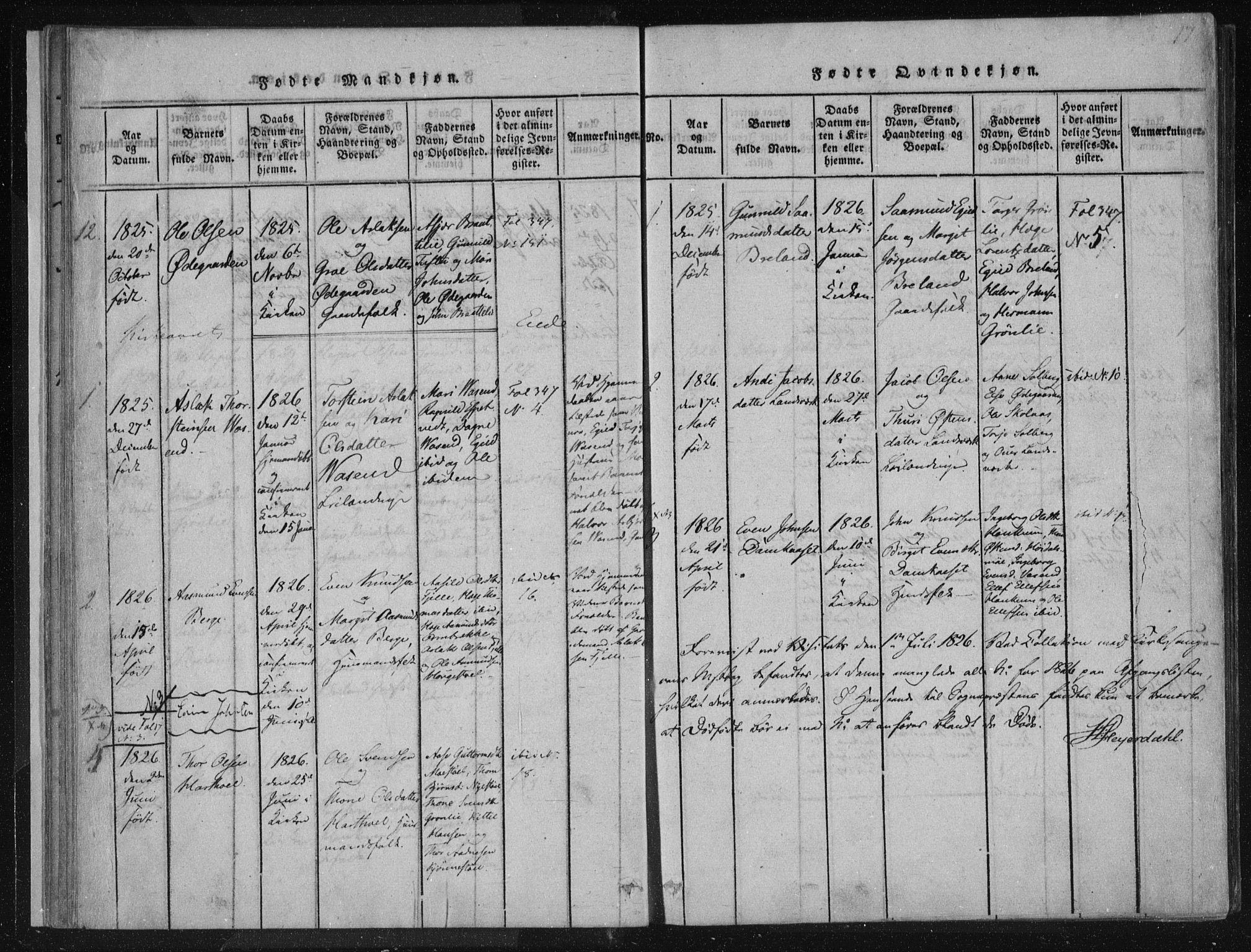 SAKO, Lårdal kirkebøker, F/Fc/L0001: Ministerialbok nr. III 1, 1815-1860, s. 17