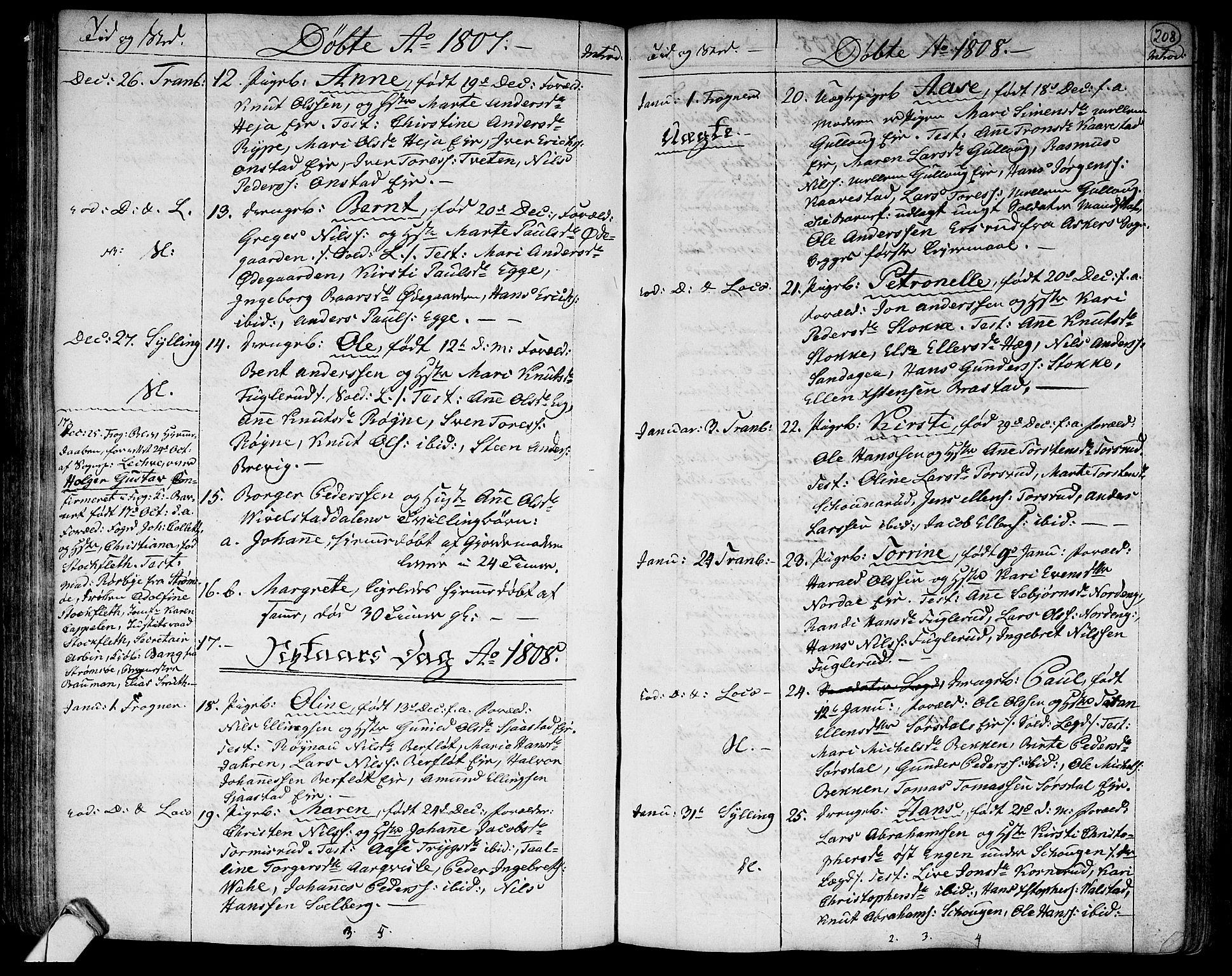 SAKO, Lier kirkebøker, F/Fa/L0007: Ministerialbok nr. I 7, 1794-1813, s. 208