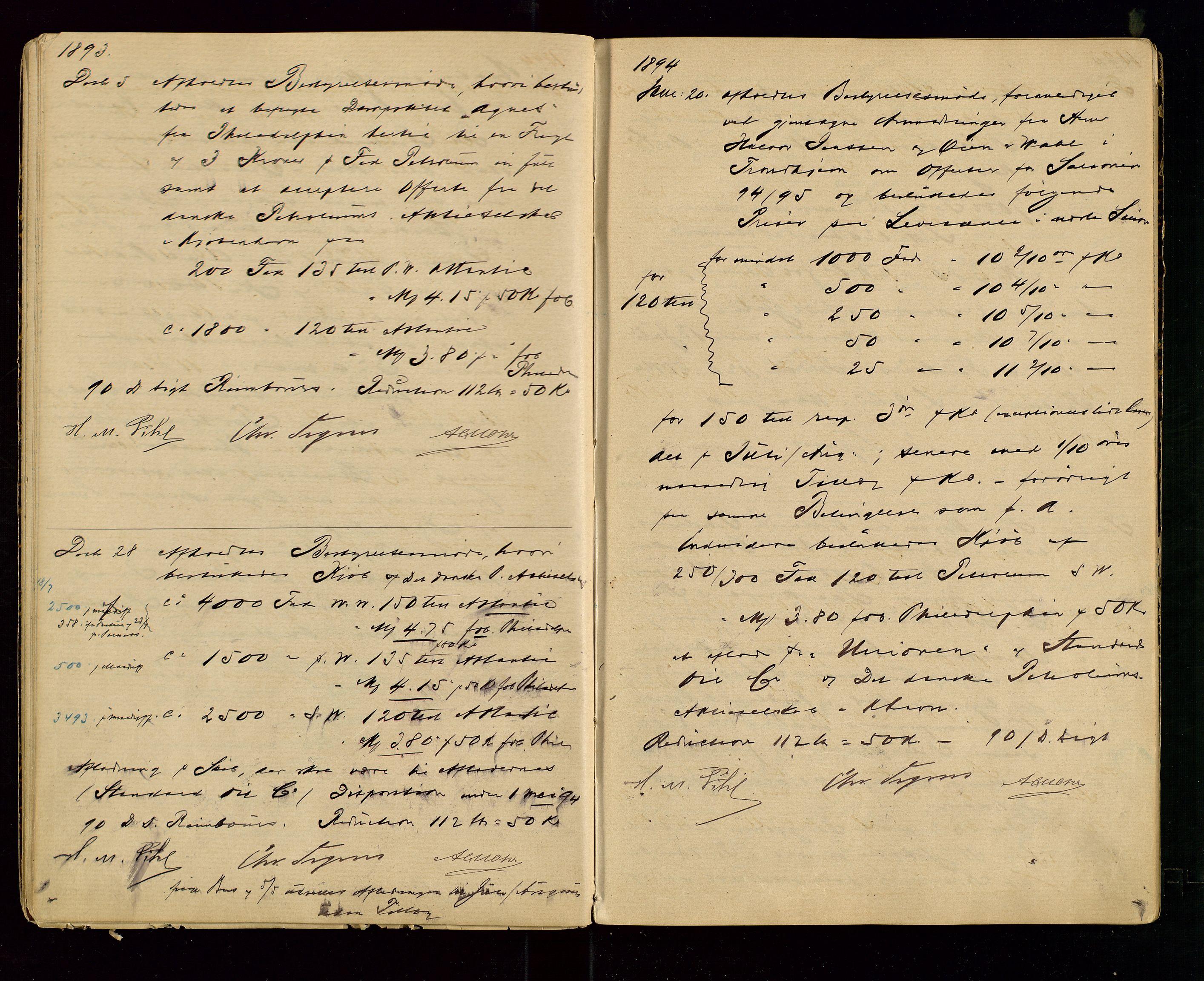 SAST, PA 1533 - A/S Vestlandske Petroleumscompani, A/Aa/L0001: Generalforsamlinger og styreprotokoller, 1890-1907, s. 17