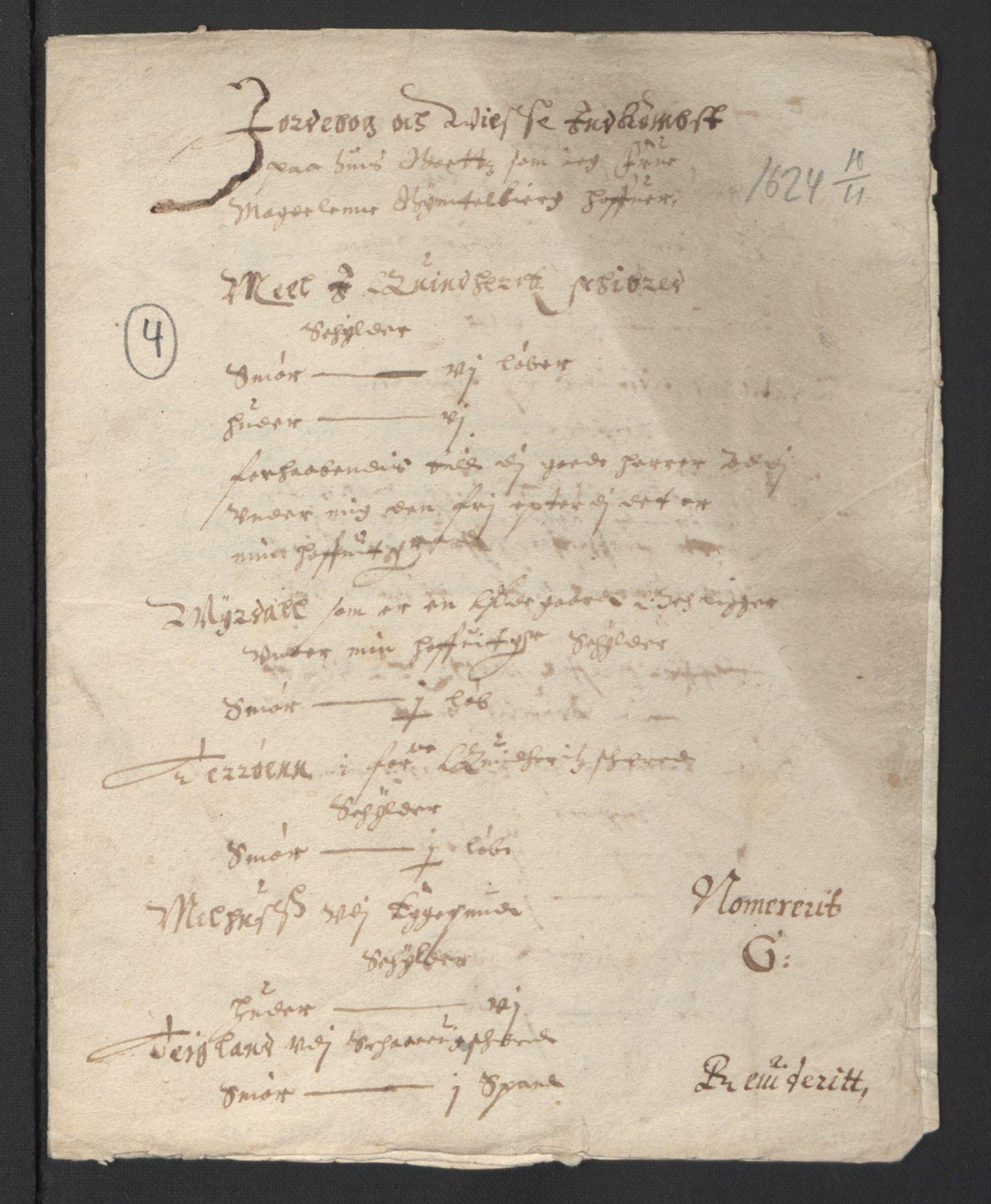 RA, Stattholderembetet 1572-1771, Ek/L0007: Jordebøker til utlikning av rosstjeneste 1624-1626:, 1624-1625, s. 242