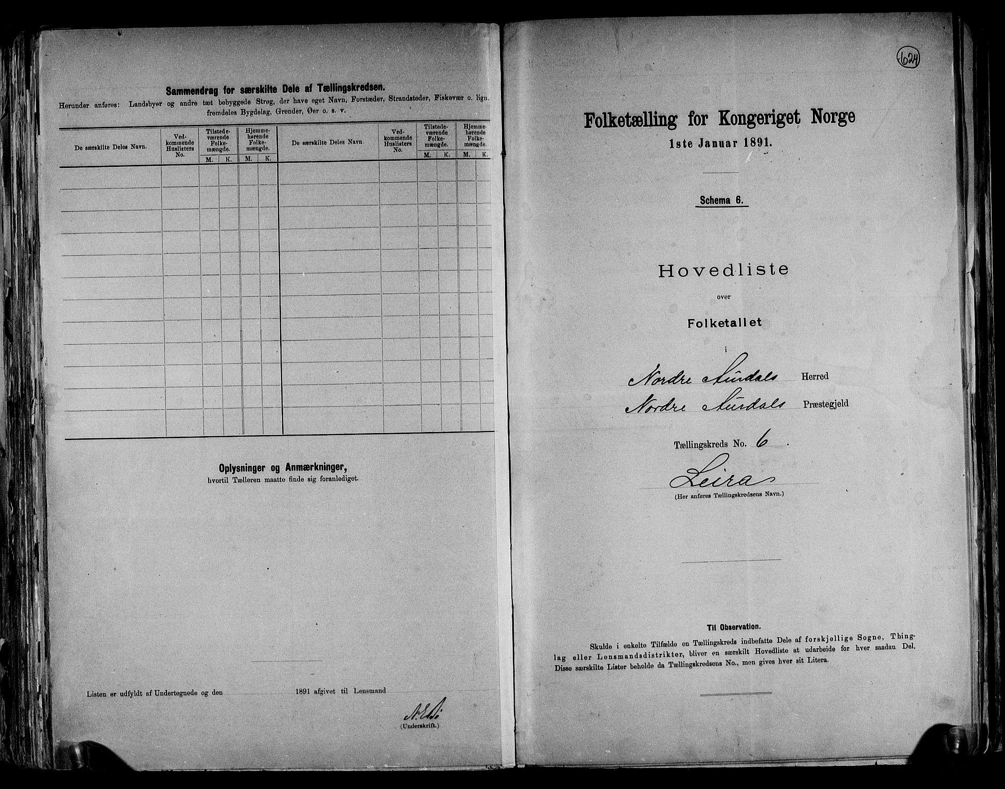 RA, Folketelling 1891 for 0542 Nord-Aurdal herred, 1891, s. 19