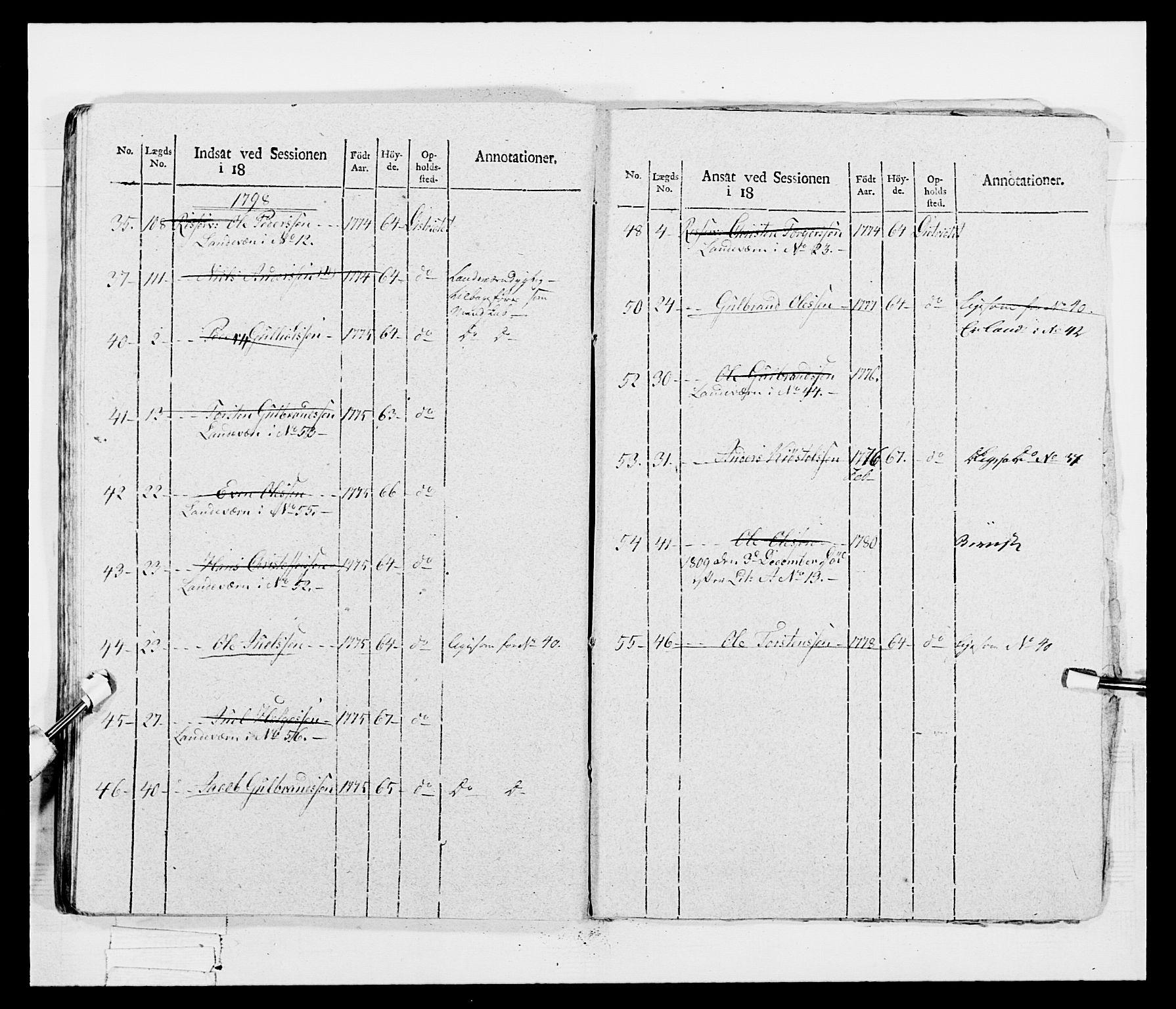 RA, Generalitets- og kommissariatskollegiet, Det kongelige norske kommissariatskollegium, E/Eh/L0047: 2. Akershusiske nasjonale infanteriregiment, 1791-1810, s. 563