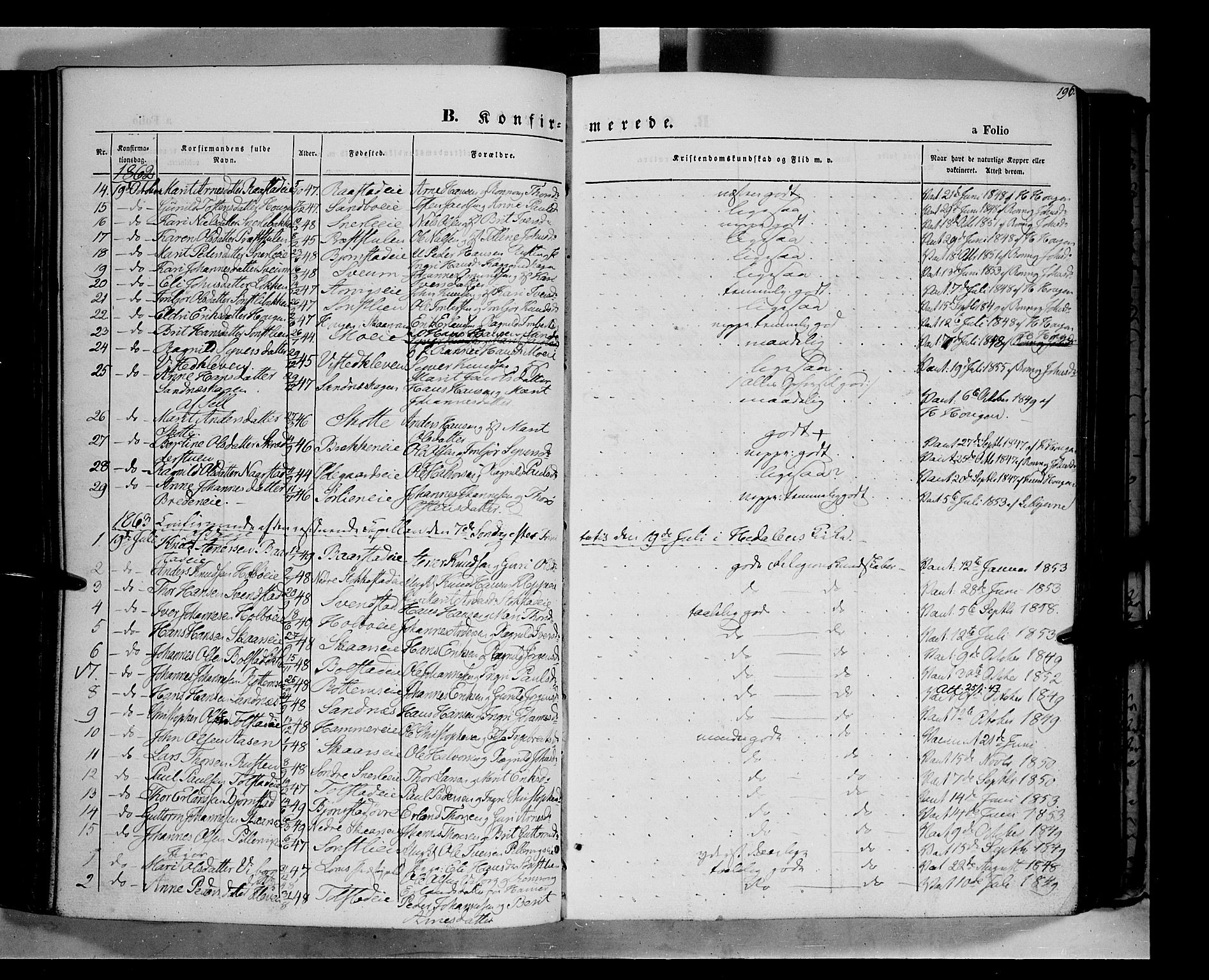 SAH, Vågå prestekontor, Ministerialbok nr. 6 /1, 1856-1872, s. 196