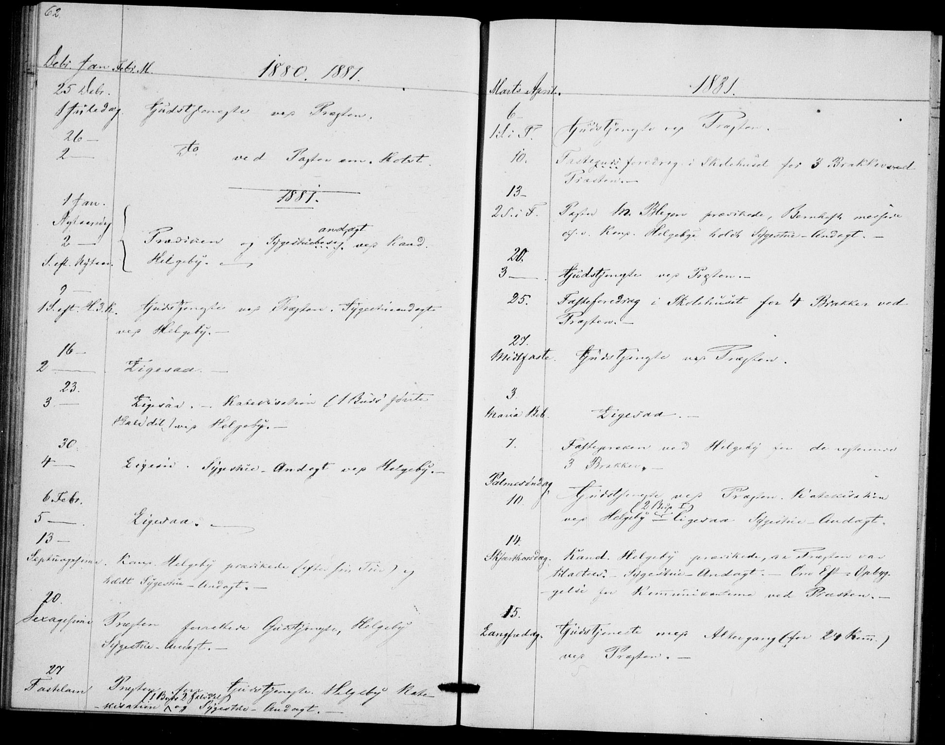 SAO, Akershus festnings slaveri Kirkebøker, F/Fa/L0002: Ministerialbok nr. 2, 1852-1883, s. 62