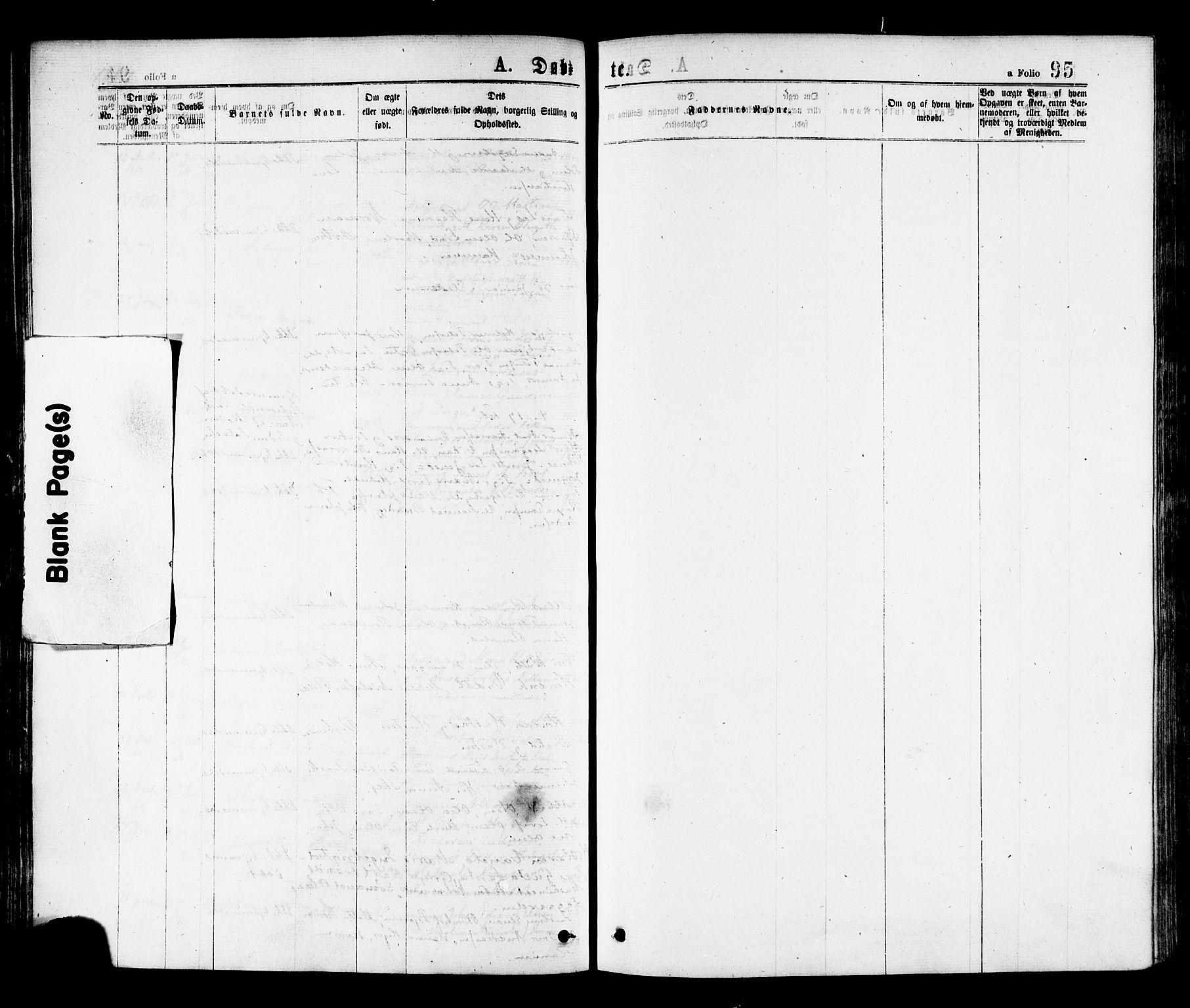 SAT, Ministerialprotokoller, klokkerbøker og fødselsregistre - Nord-Trøndelag, 768/L0572: Ministerialbok nr. 768A07, 1874-1886, s. 95