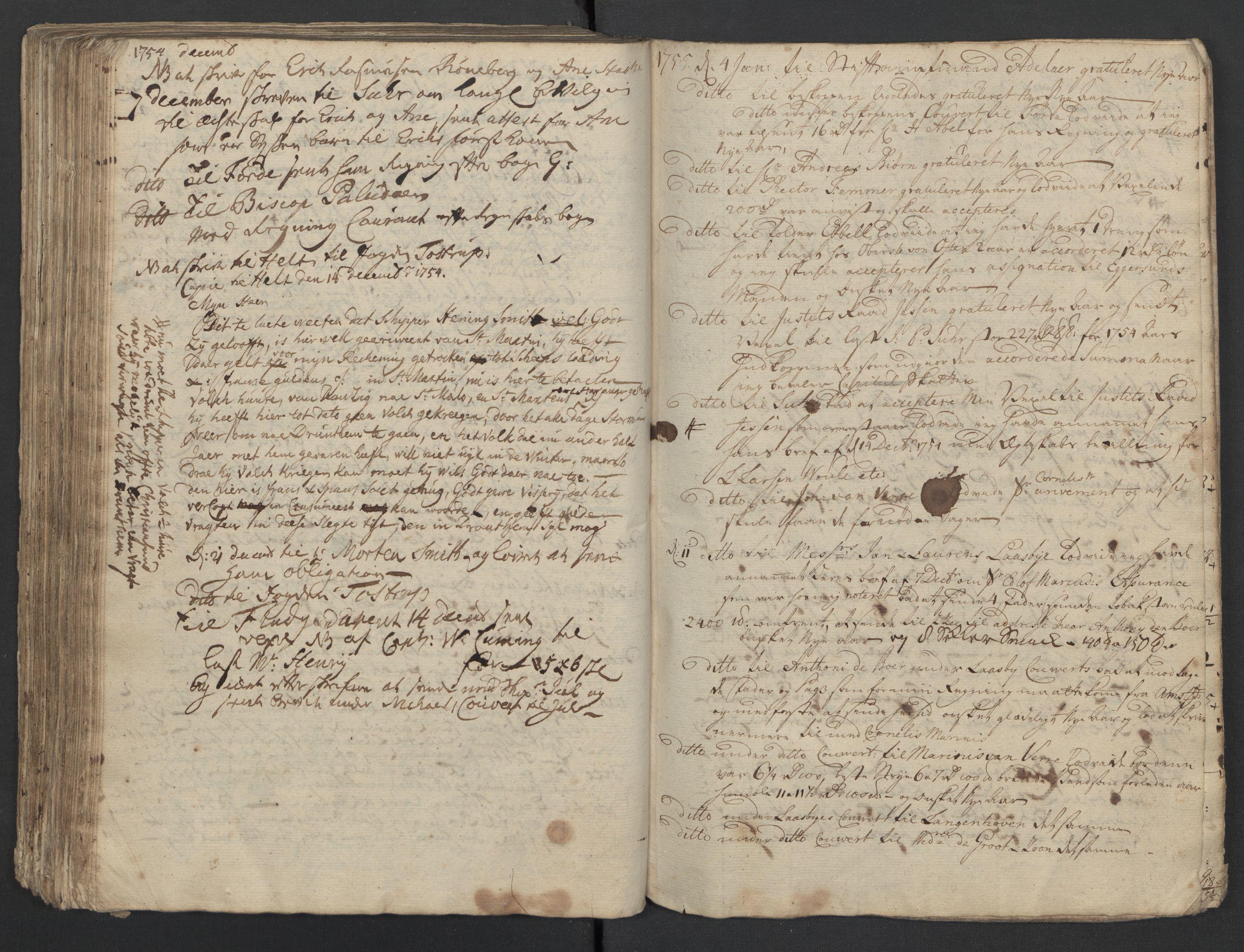 SAST, Pa 0119 - Smith, Lauritz Andersen og Lauritz Lauritzen, O/L0001: Kopibøker m.m., 1746-1755, s. 194