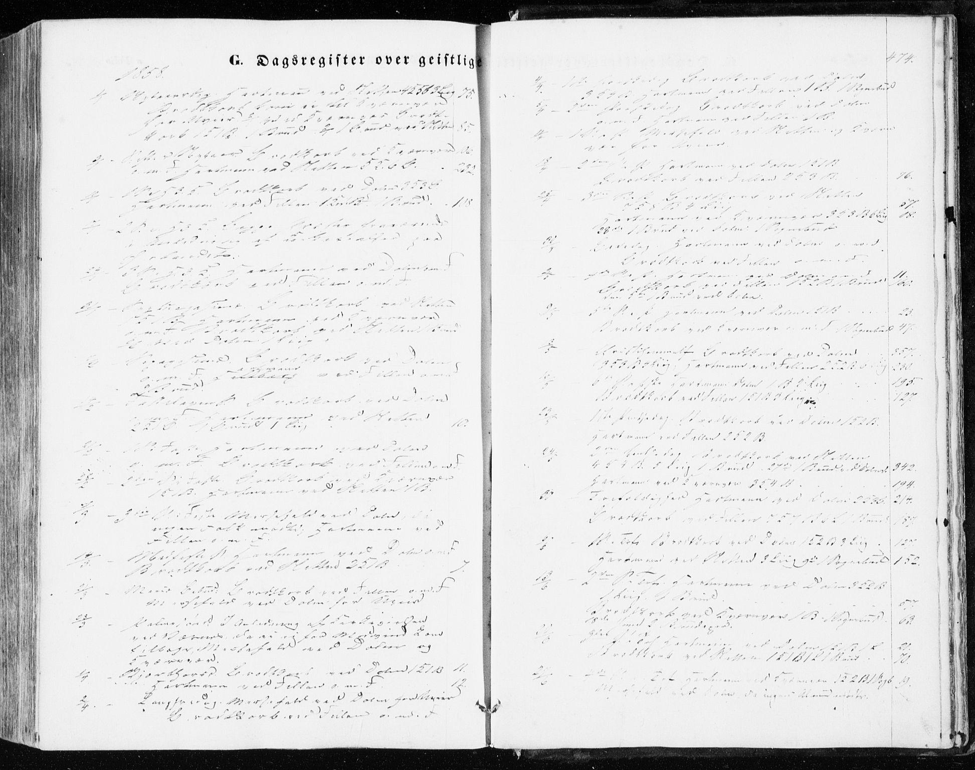 SAT, Ministerialprotokoller, klokkerbøker og fødselsregistre - Sør-Trøndelag, 634/L0530: Ministerialbok nr. 634A06, 1852-1860, s. 474