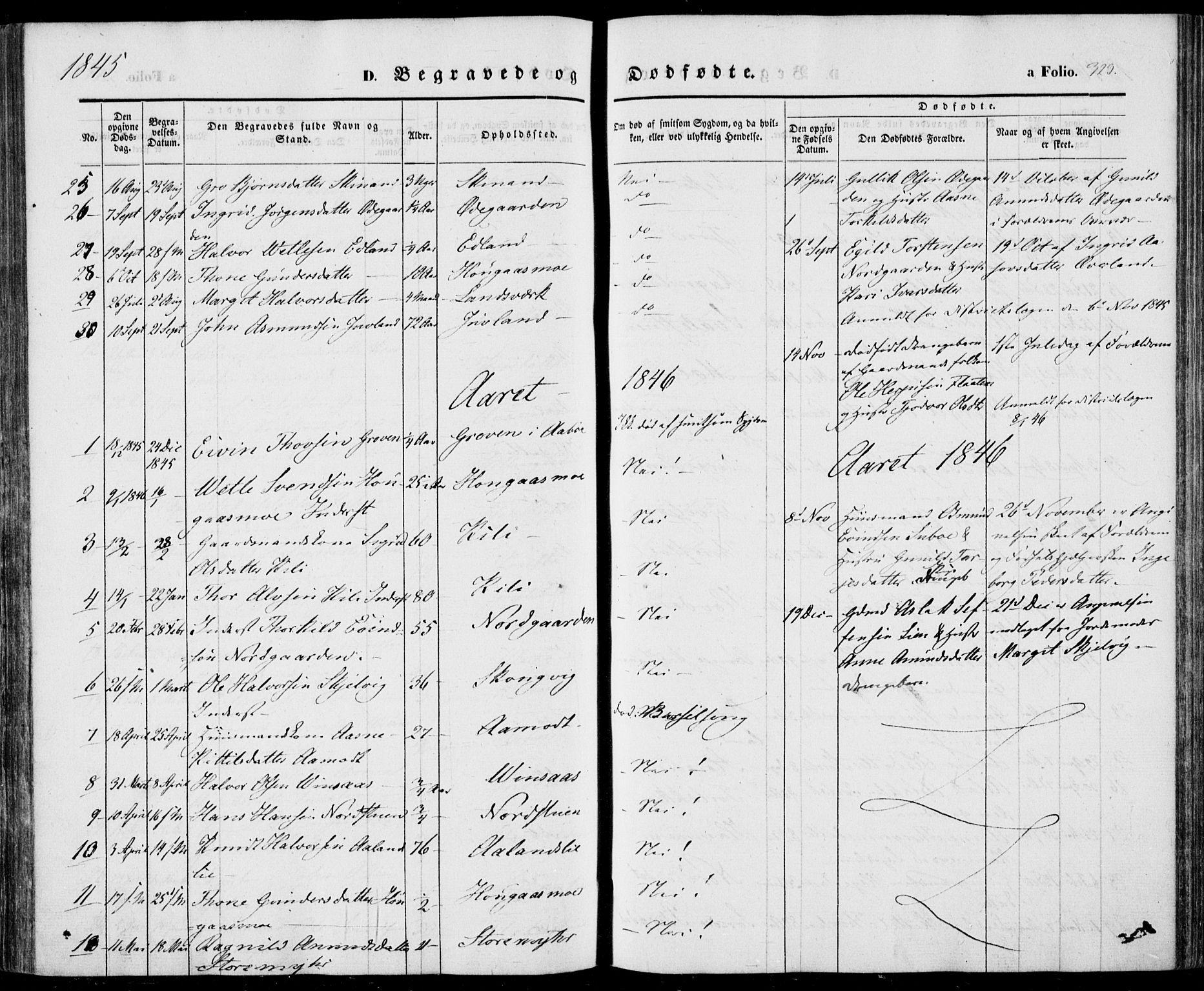 SAKO, Vinje kirkebøker, F/Fa/L0004: Ministerialbok nr. I 4, 1843-1869, s. 323
