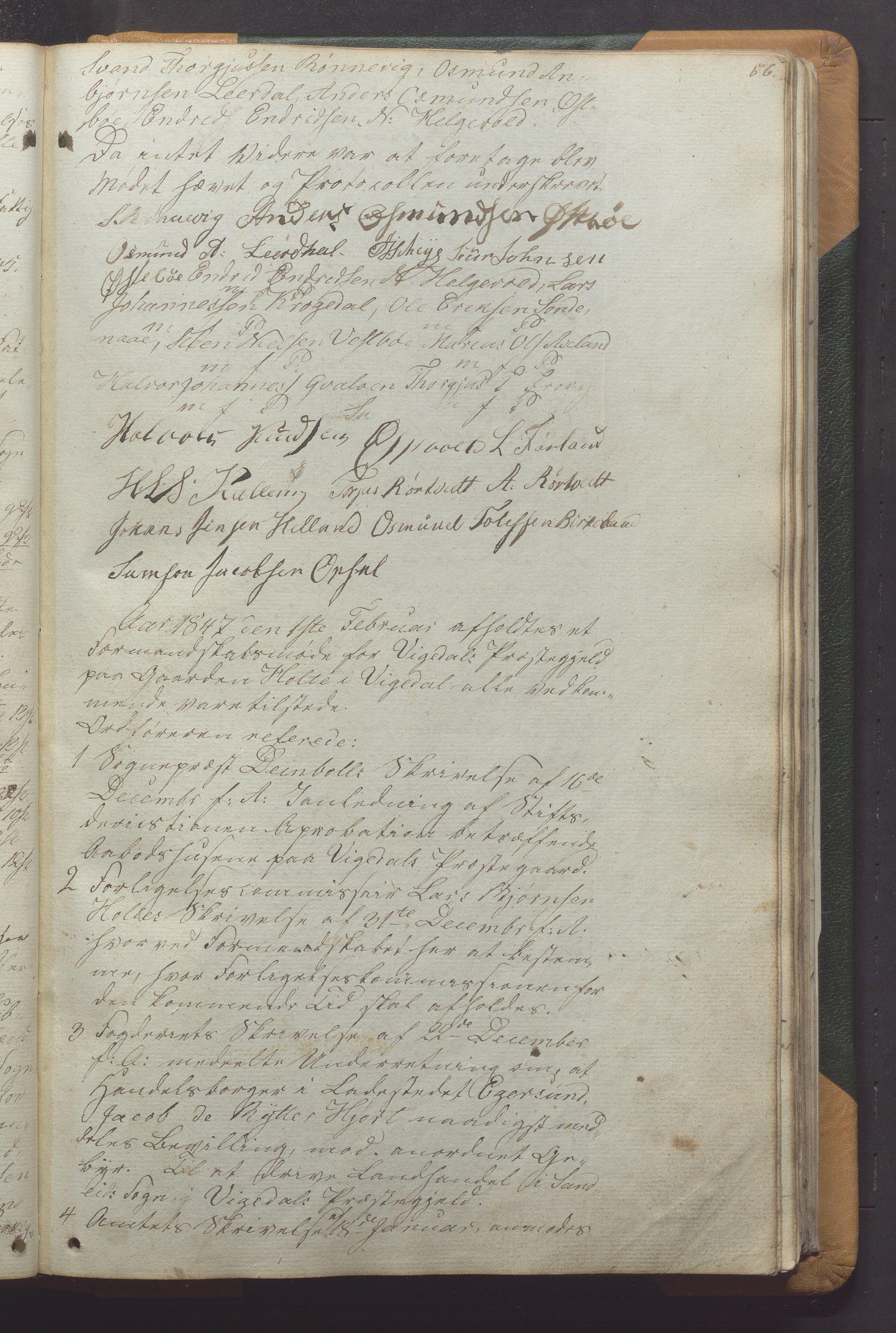 IKAR, Vikedal kommune - Formannskapet, Aaa/L0001: Møtebok, 1837-1874, s. 56a