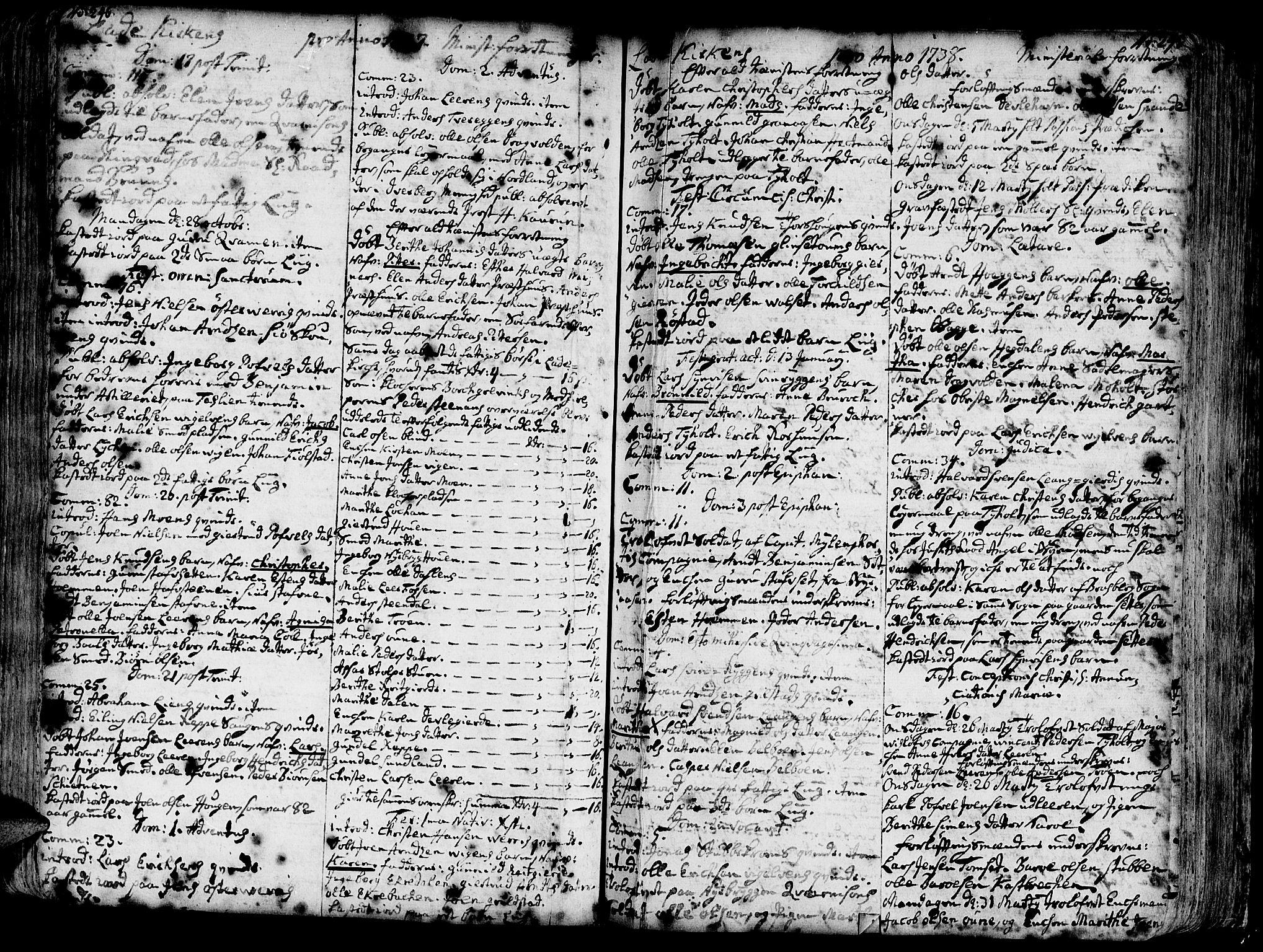 SAT, Ministerialprotokoller, klokkerbøker og fødselsregistre - Sør-Trøndelag, 606/L0275: Ministerialbok nr. 606A01 /1, 1727-1780, s. 246-247