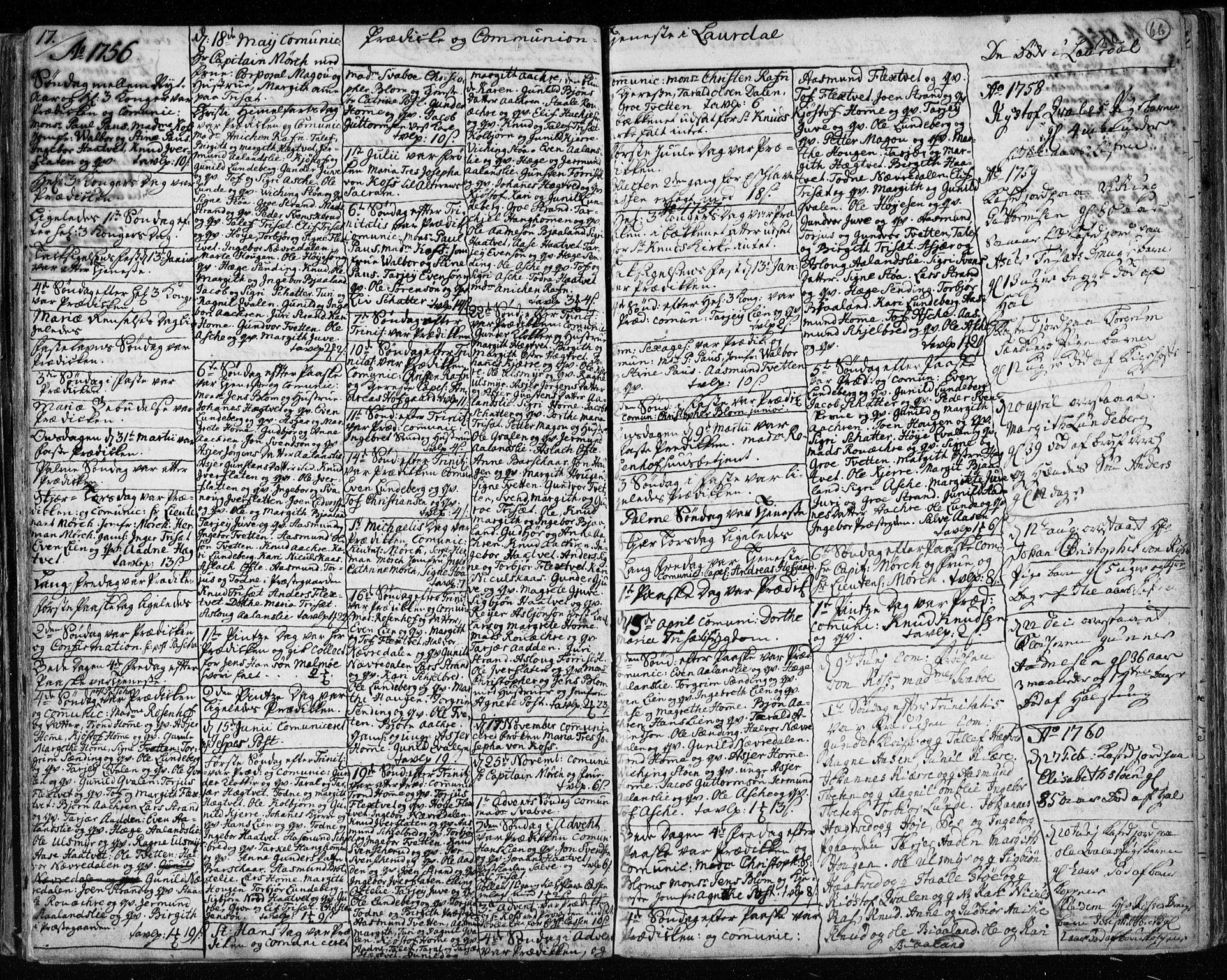 SAKO, Lårdal kirkebøker, F/Fa/L0003: Ministerialbok nr. I 3, 1754-1790, s. 66