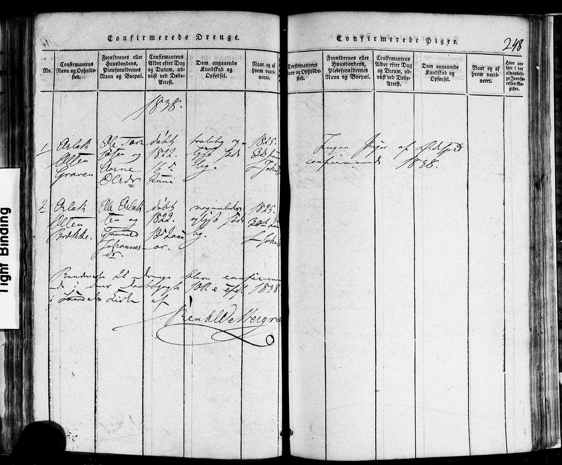 SAKO, Rauland kirkebøker, F/Fa/L0002: Ministerialbok nr. 2, 1815-1860, s. 248