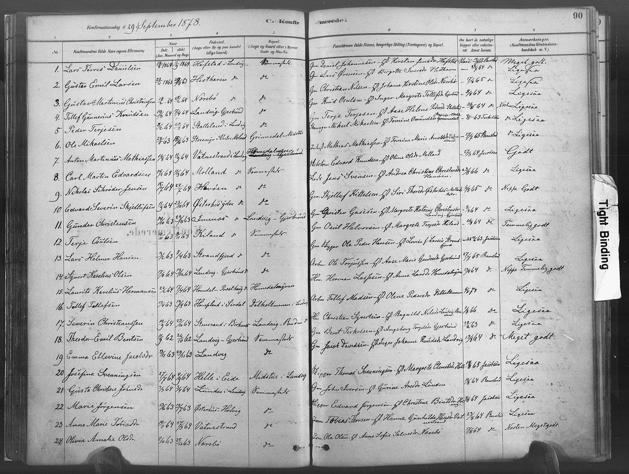 SAK, Hommedal sokneprestkontor, F/Fa/Fab/L0006: Ministerialbok nr. A 6, 1878-1897, s. 90