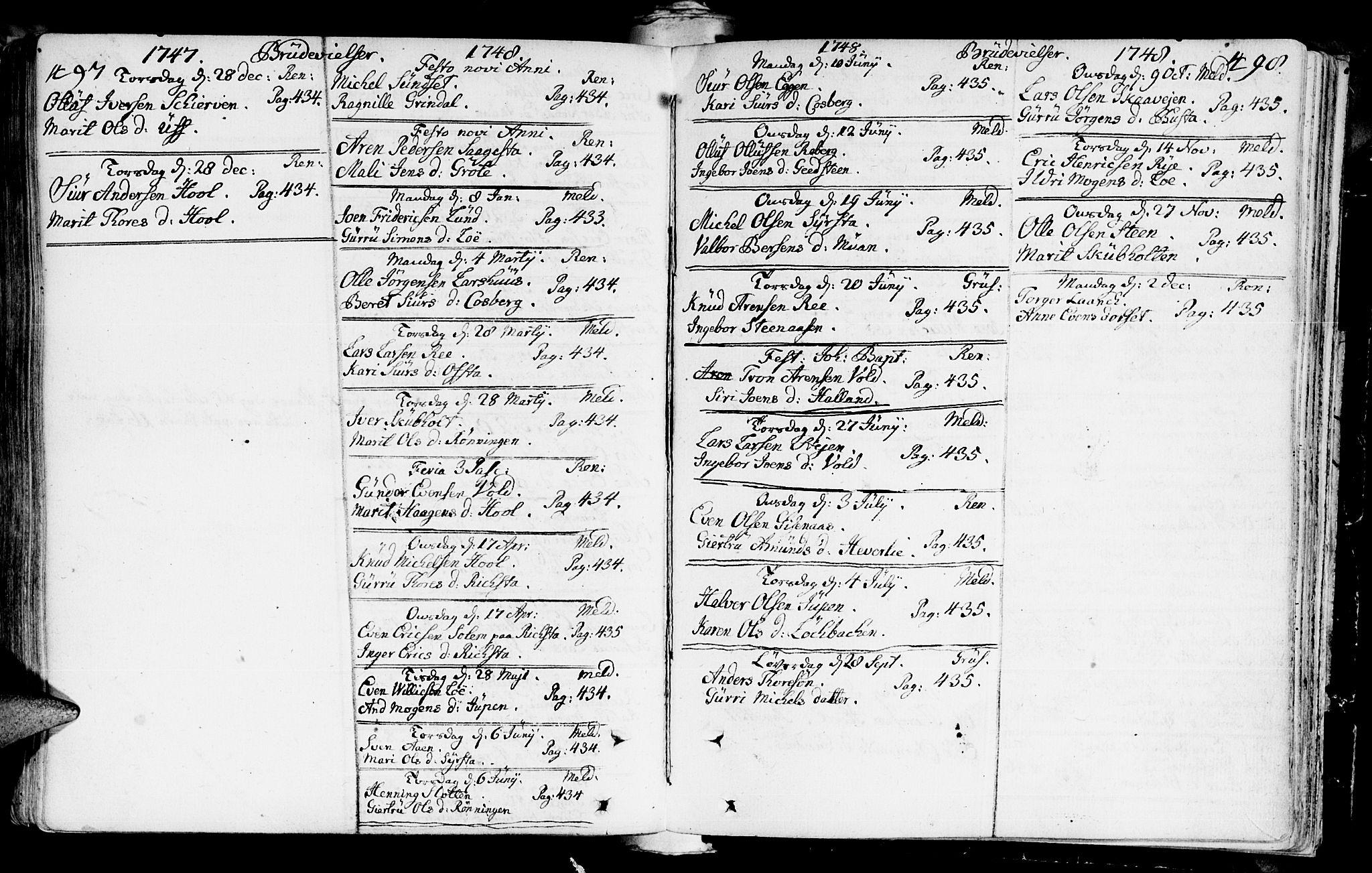 SAT, Ministerialprotokoller, klokkerbøker og fødselsregistre - Sør-Trøndelag, 672/L0850: Ministerialbok nr. 672A03, 1725-1751, s. 497-498