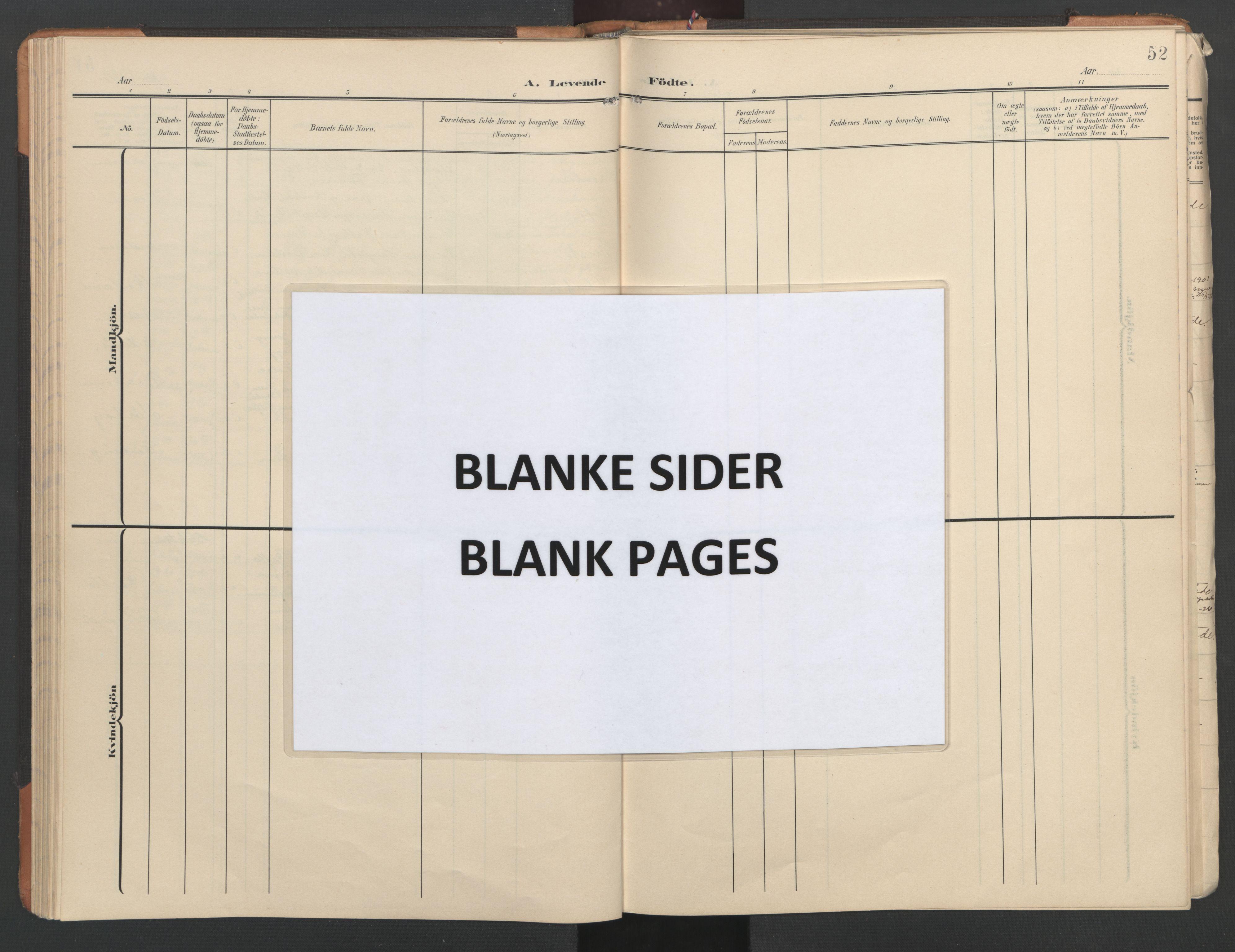 SAT, Ministerialprotokoller, klokkerbøker og fødselsregistre - Nord-Trøndelag, 746/L0455: Klokkerbok nr. 746C01, 1908-1933, s. 52