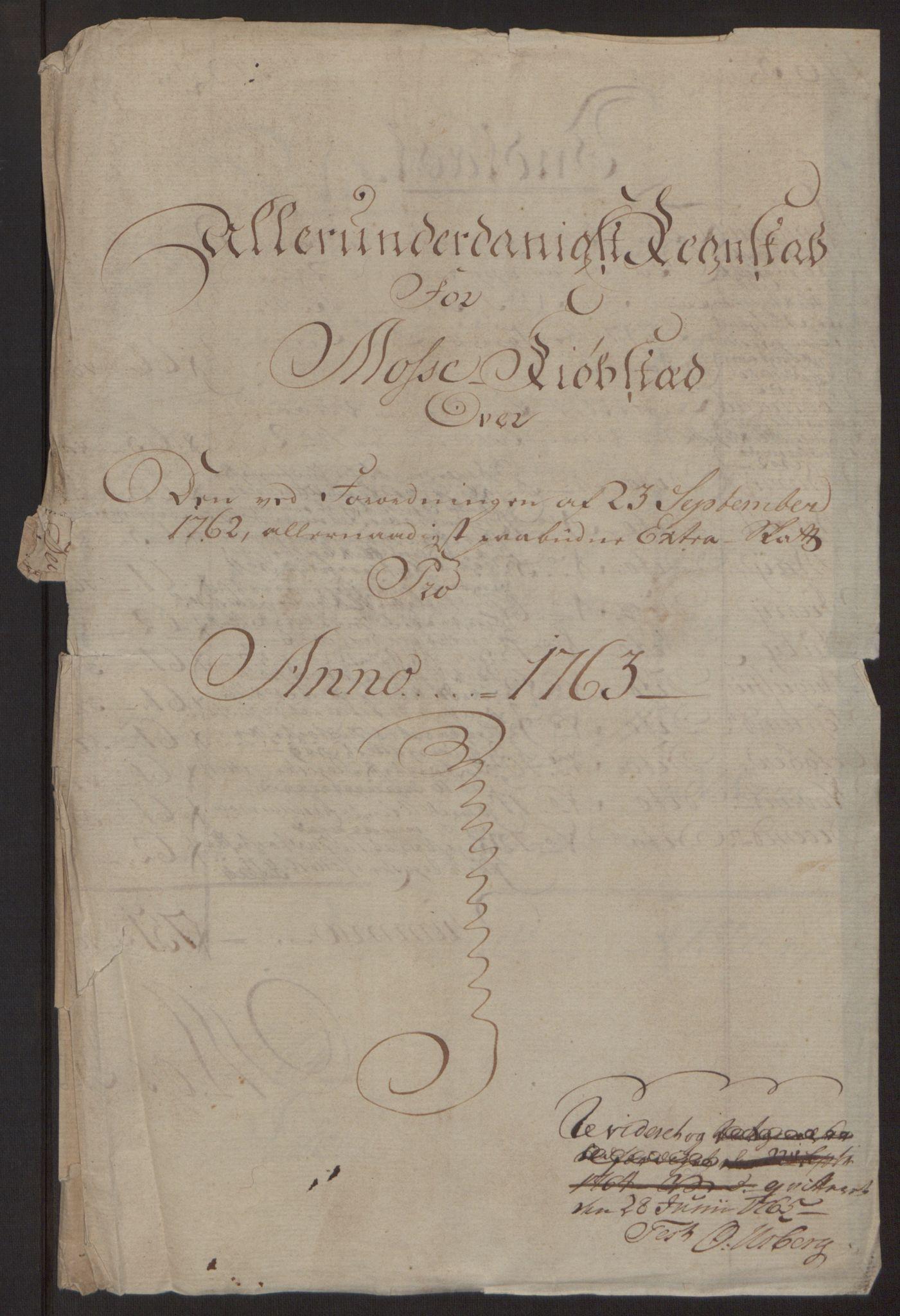 RA, Rentekammeret inntil 1814, Reviderte regnskaper, Byregnskaper, R/Rc/L0042: [C1] Kontribusjonsregnskap, 1762-1765, s. 53