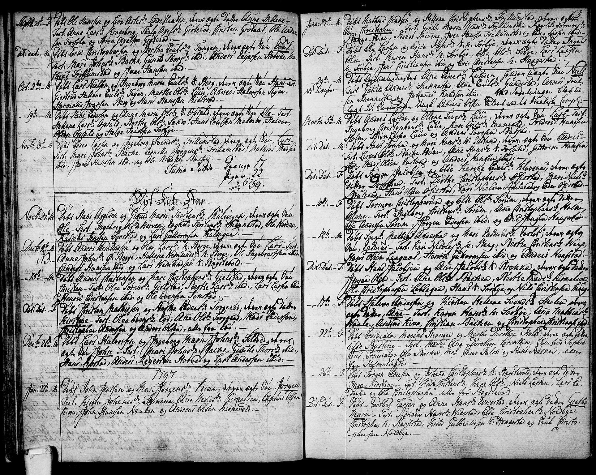 SAKO, Våle kirkebøker, F/Fa/L0005: Ministerialbok nr. I 5, 1773-1808, s. 62-63