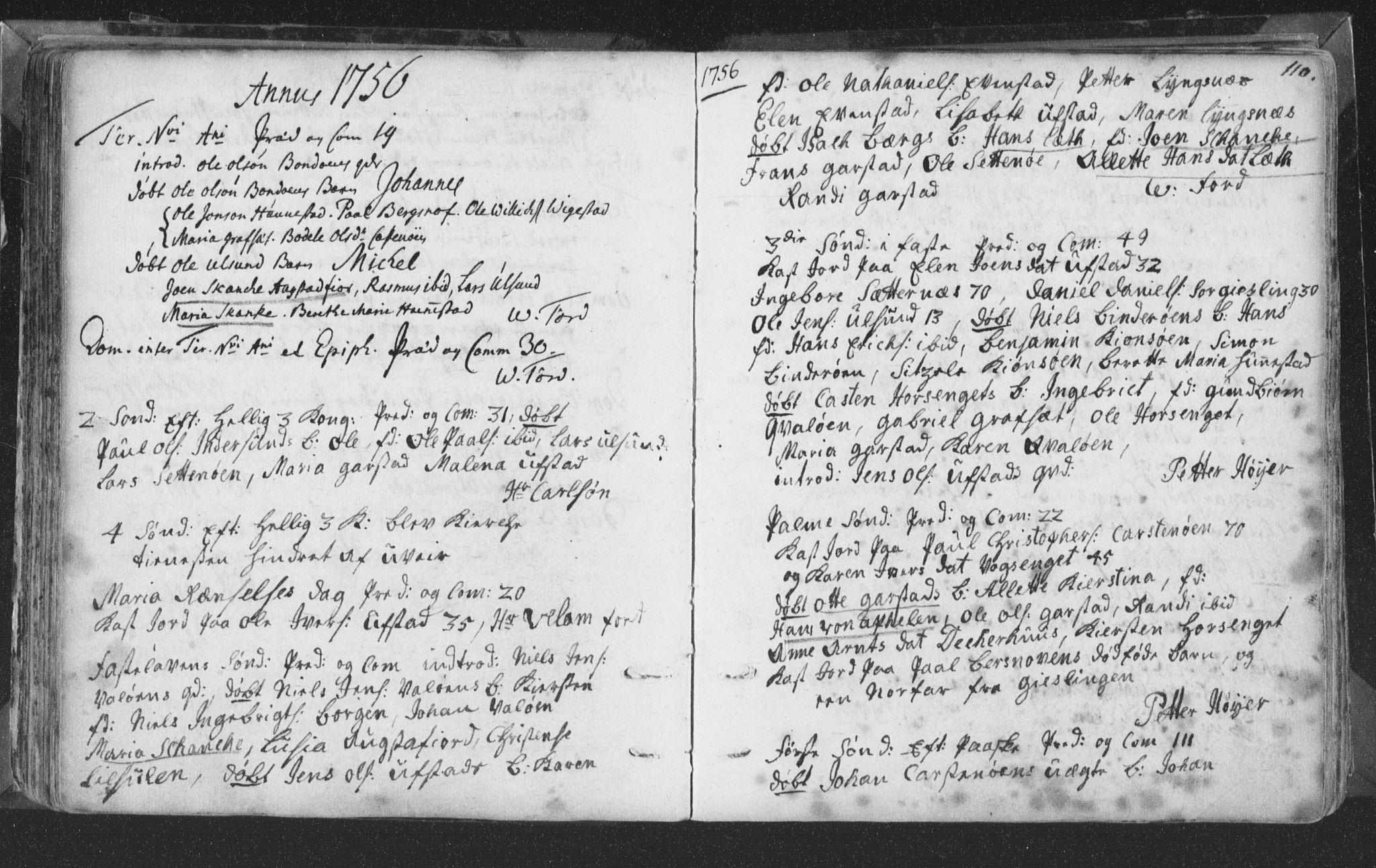 SAT, Ministerialprotokoller, klokkerbøker og fødselsregistre - Nord-Trøndelag, 786/L0685: Ministerialbok nr. 786A01, 1710-1798, s. 110