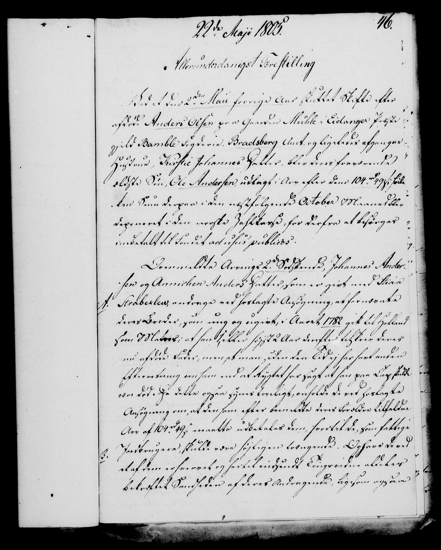RA, Rentekammeret, Kammerkanselliet, G/Gf/Gfa/L0087: Norsk relasjons- og resolusjonsprotokoll (merket RK 52.87), 1805, s. 264