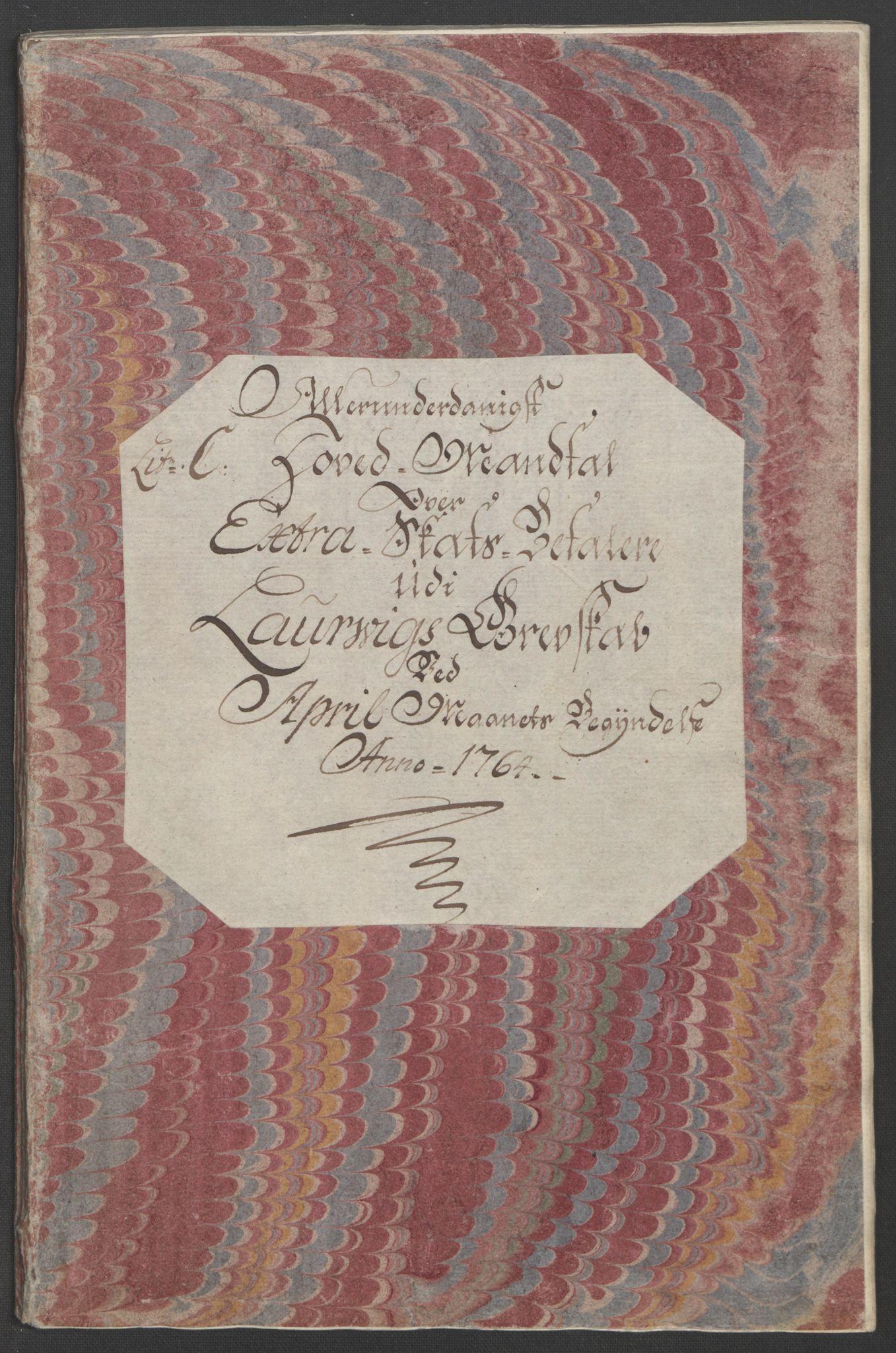 RA, Rentekammeret inntil 1814, Reviderte regnskaper, Fogderegnskap, R33/L2033: Ekstraskatten Larvik grevskap, 1762-1764, s. 491
