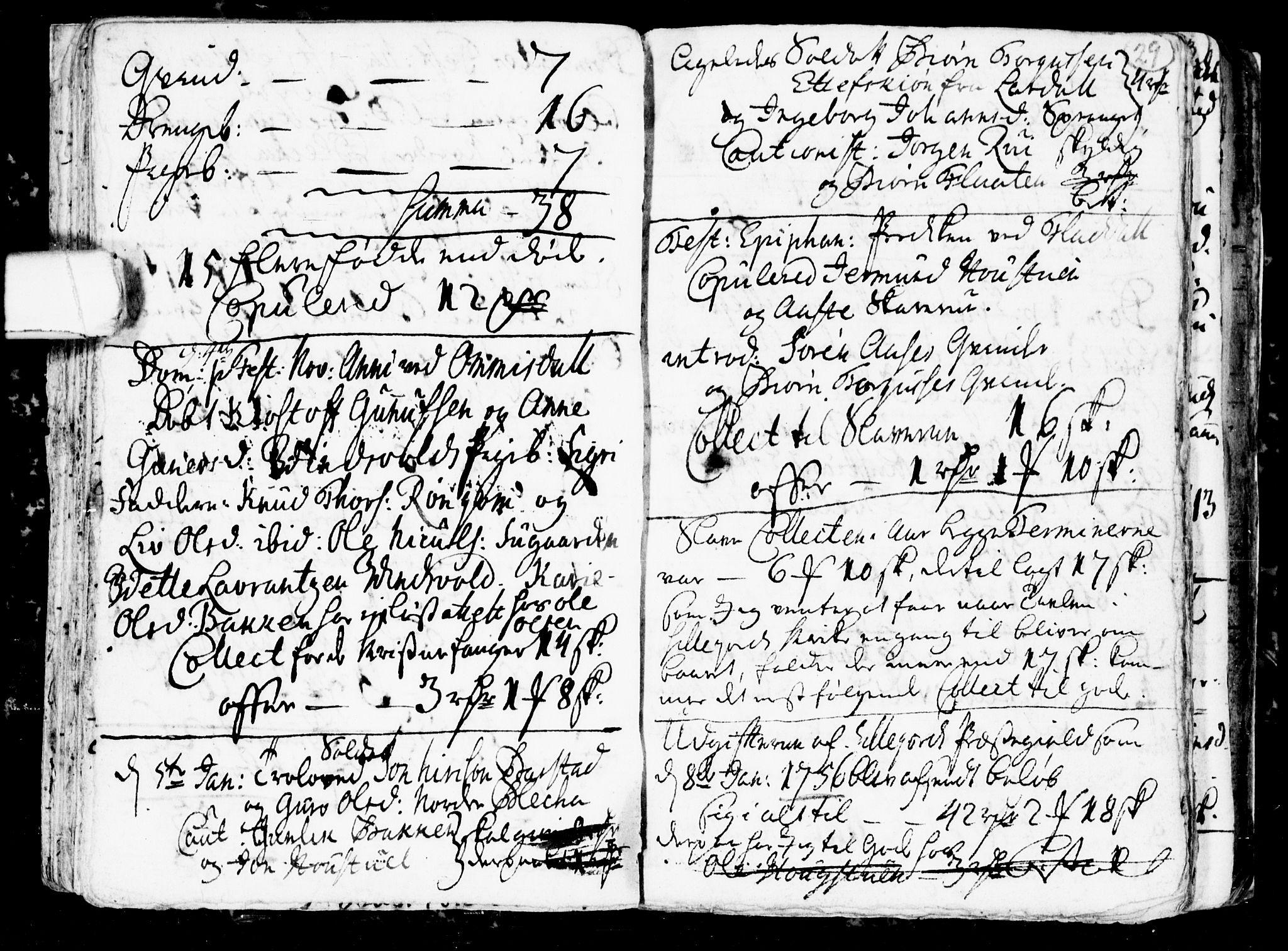 SAKO, Seljord kirkebøker, G/Gb/L0001: Klokkerbok nr. II 1, 1754-1790, s. 28-29