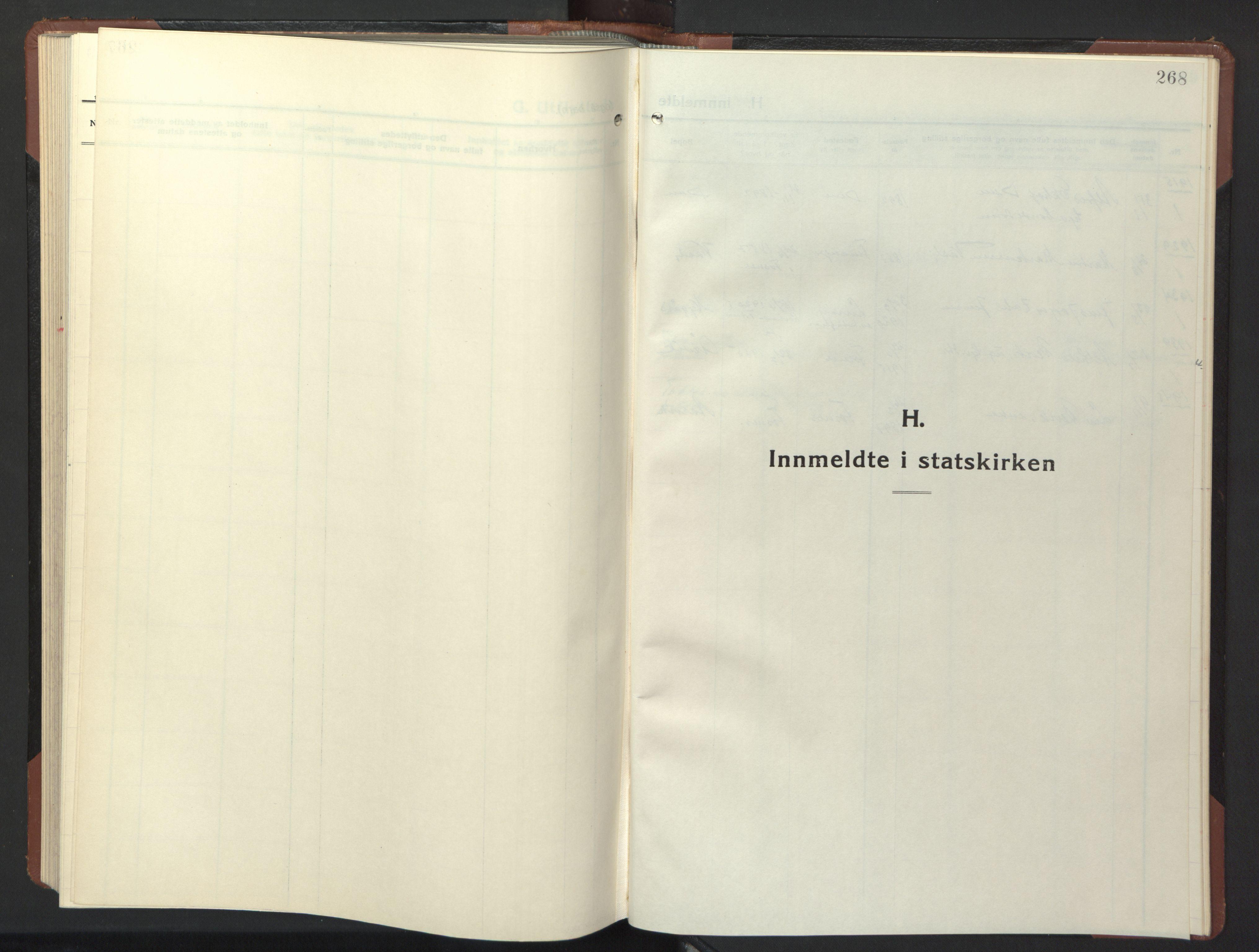 SAT, Ministerialprotokoller, klokkerbøker og fødselsregistre - Nord-Trøndelag, 773/L0625: Klokkerbok nr. 773C01, 1910-1952, s. 268