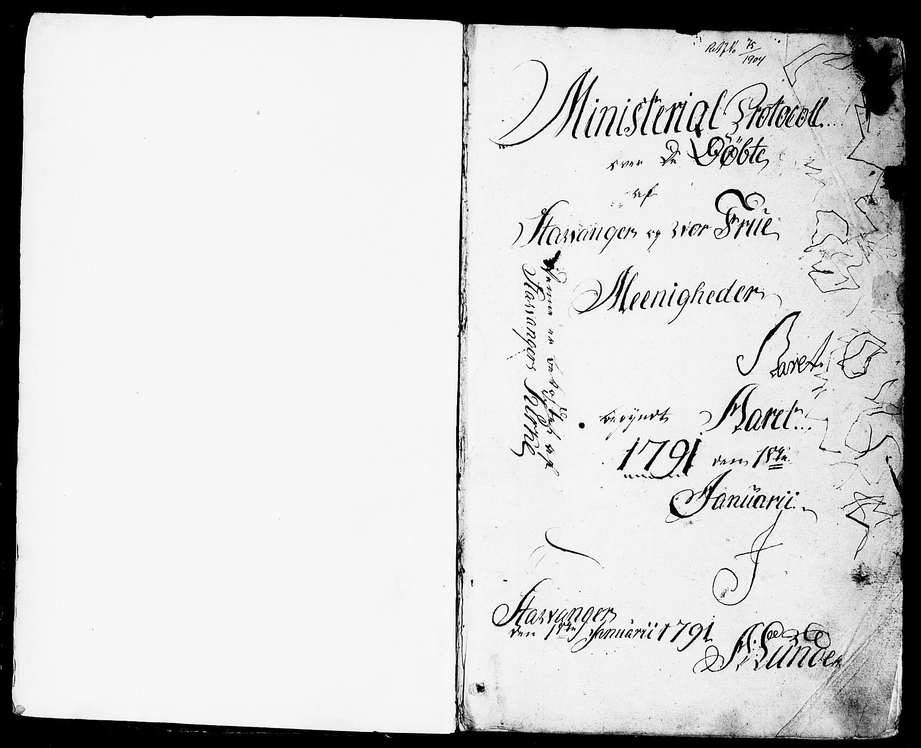 SAST, Domkirken sokneprestkontor, 30/30BB/L0007: Klokkerbok nr. B 7, 1791-1813