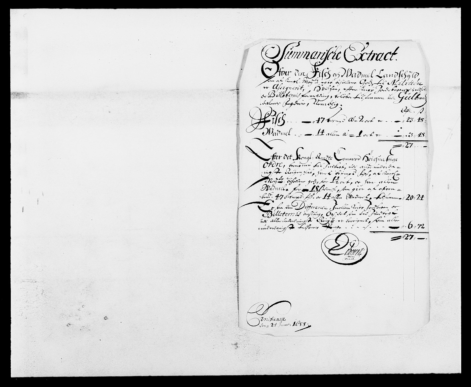 RA, Rentekammeret inntil 1814, Reviderte regnskaper, Fogderegnskap, R17/L1162: Fogderegnskap Gudbrandsdal, 1682-1689, s. 301