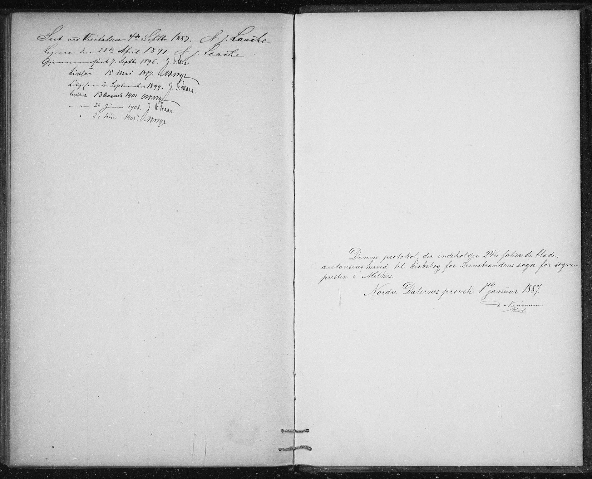 SAT, Ministerialprotokoller, klokkerbøker og fødselsregistre - Sør-Trøndelag, 613/L0392: Ministerialbok nr. 613A01, 1887-1906