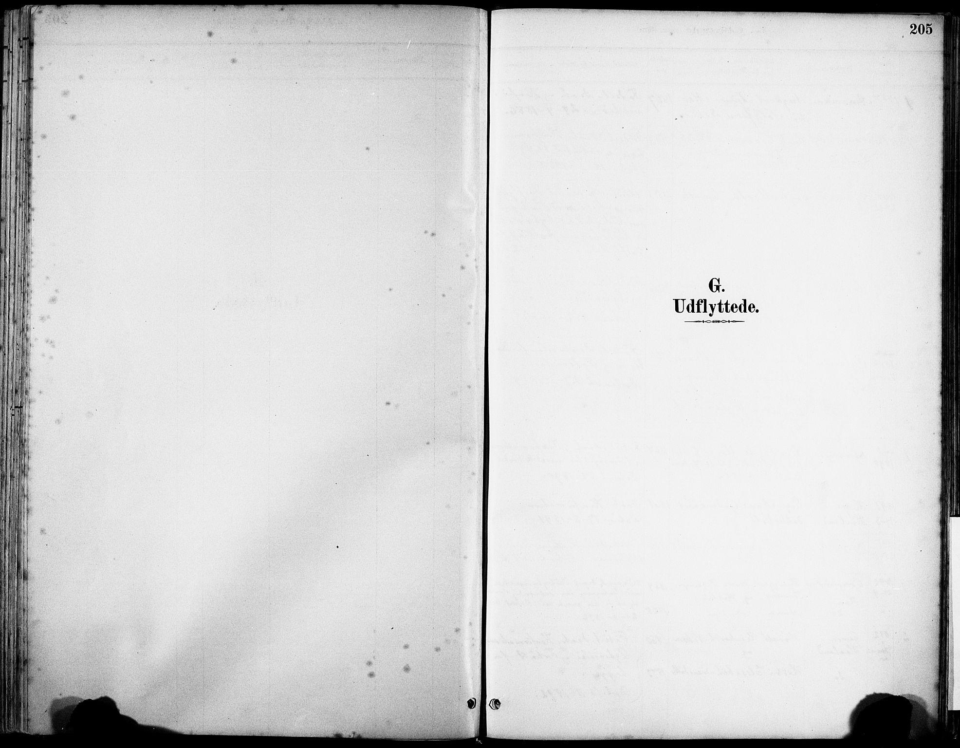 SAST, Klepp sokneprestkontor, 3/30BA/L0008: Ministerialbok nr. A 9, 1886-1919, s. 205
