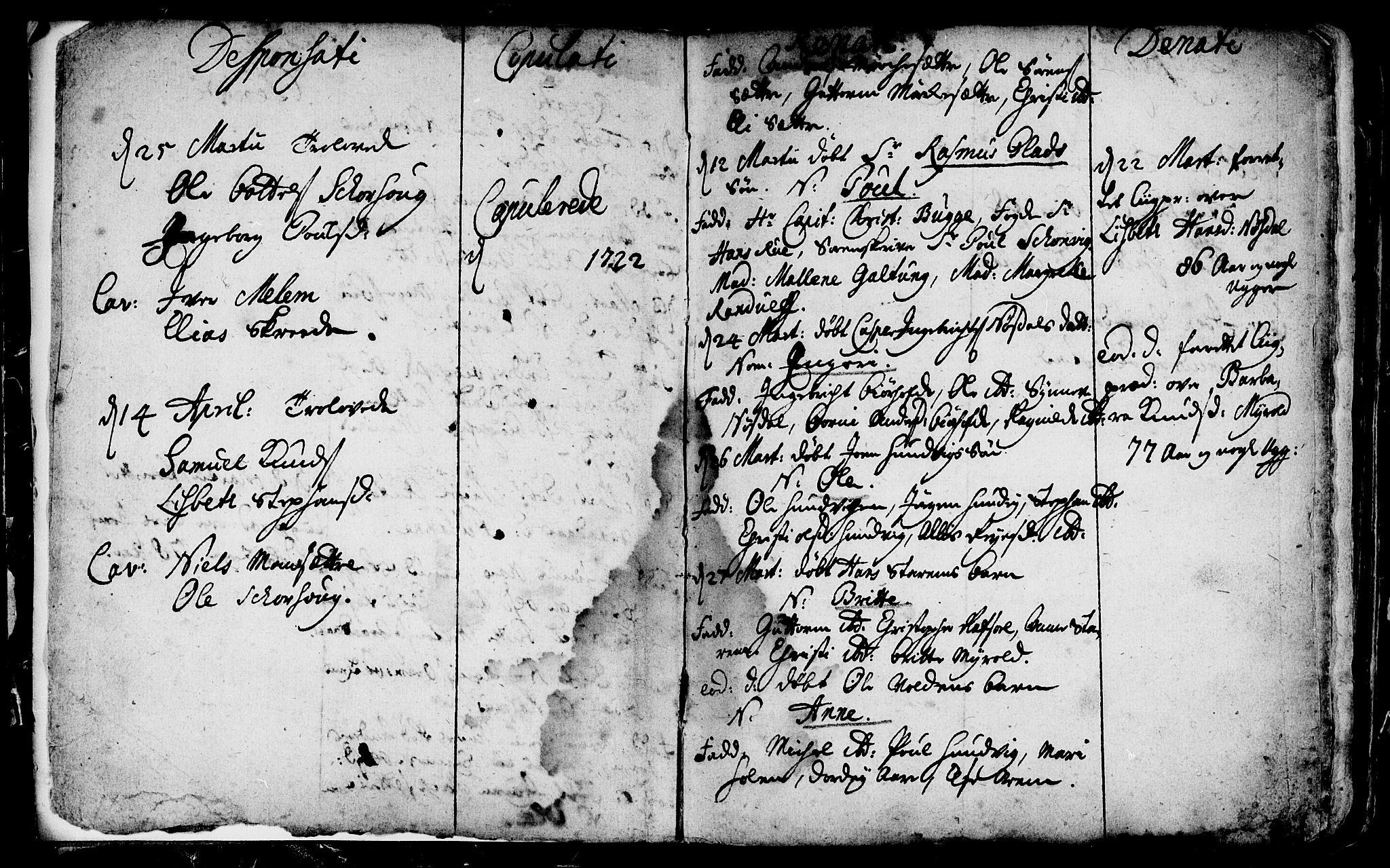 SAB, Eid Sokneprestembete, H/Haa: Ministerialbok nr. A 1, 1722-1740, s. 2