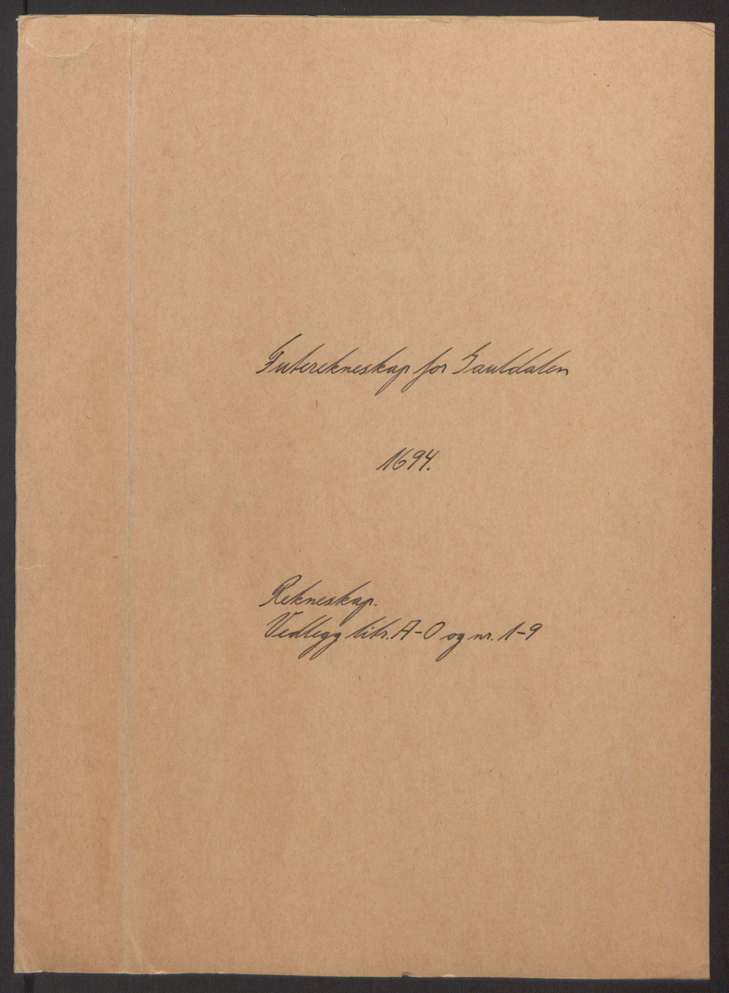 RA, Rentekammeret inntil 1814, Reviderte regnskaper, Fogderegnskap, R60/L3944: Fogderegnskap Orkdal og Gauldal, 1694, s. 205