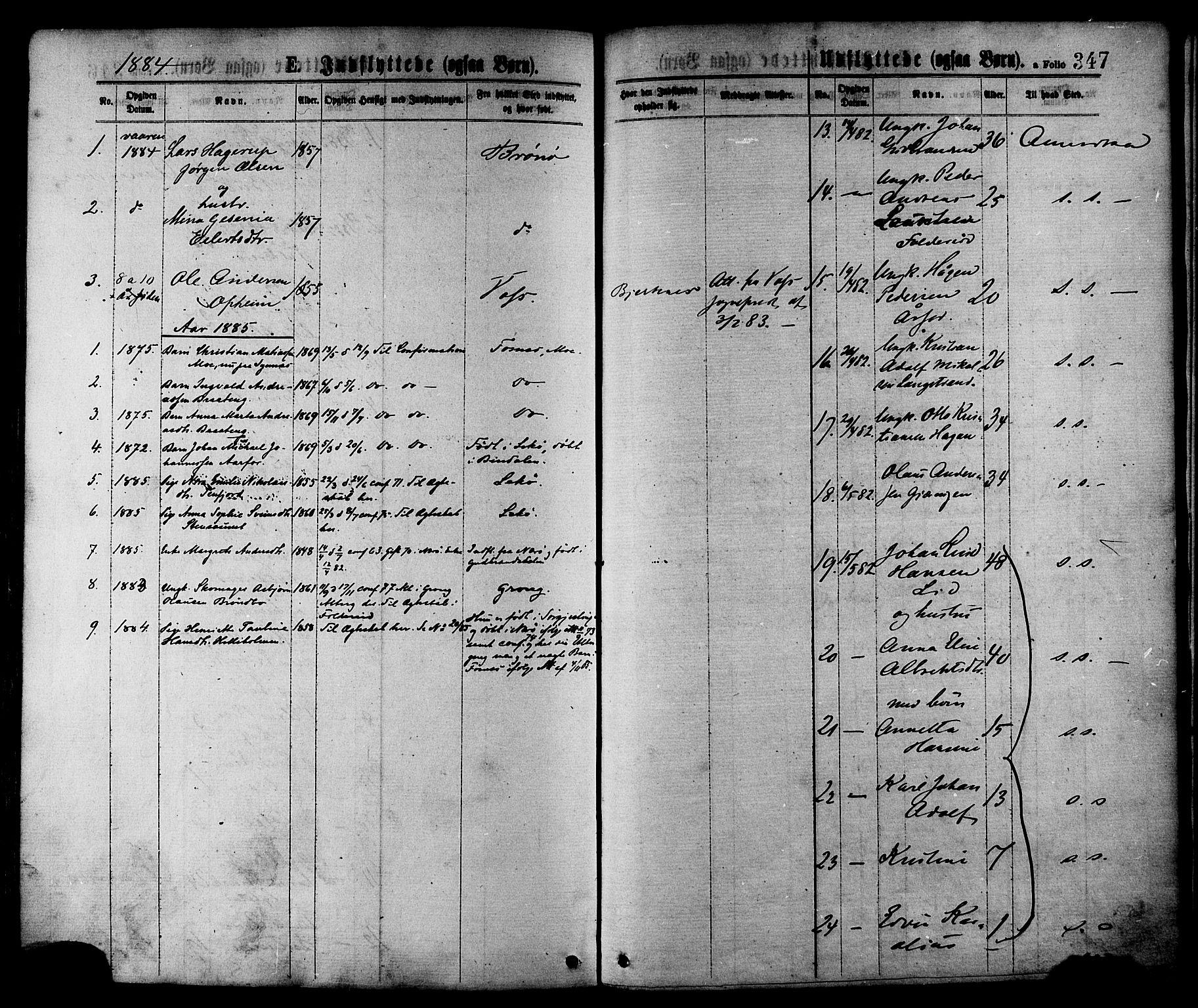 SAT, Ministerialprotokoller, klokkerbøker og fødselsregistre - Nord-Trøndelag, 780/L0642: Ministerialbok nr. 780A07 /1, 1874-1885, s. 347
