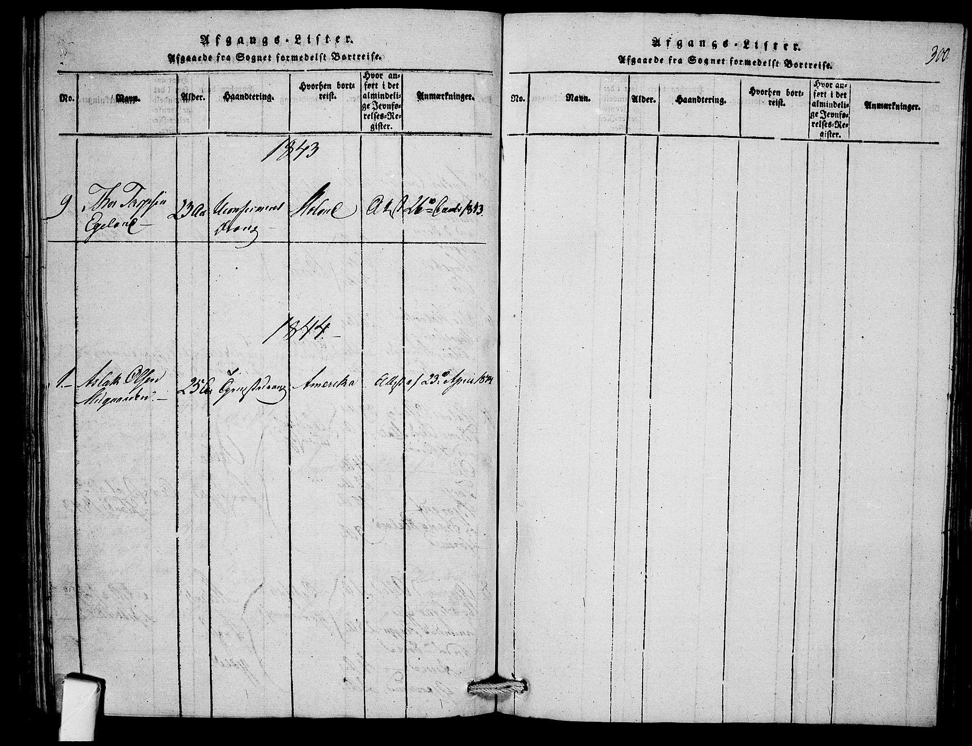 SAKO, Mo kirkebøker, F/Fb/L0001: Ministerialbok nr. II 1, 1814-1844, s. 300