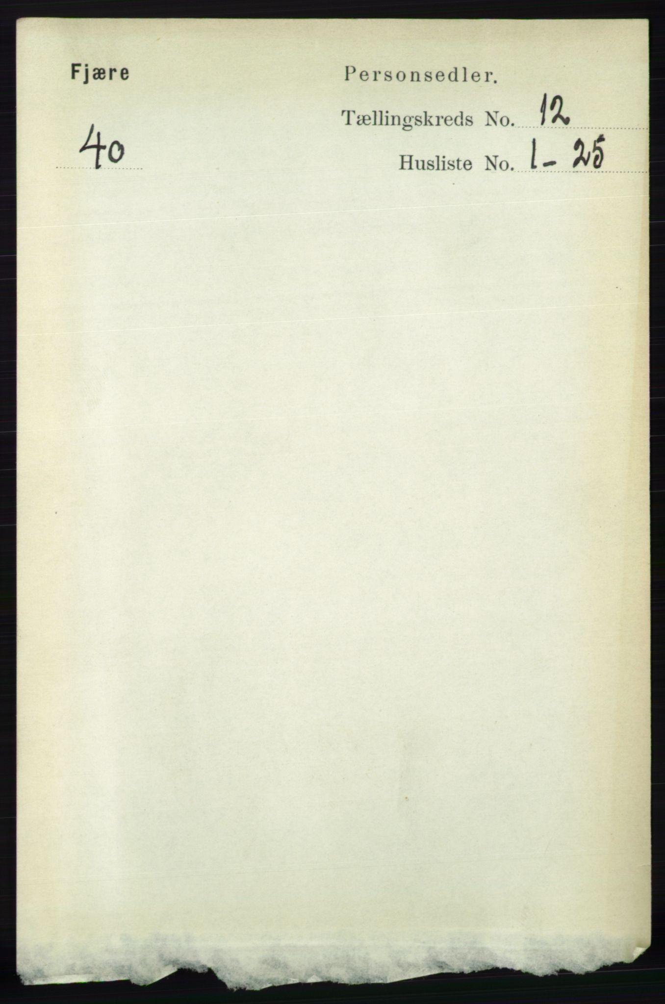 RA, Folketelling 1891 for 0923 Fjære herred, 1891, s. 5968