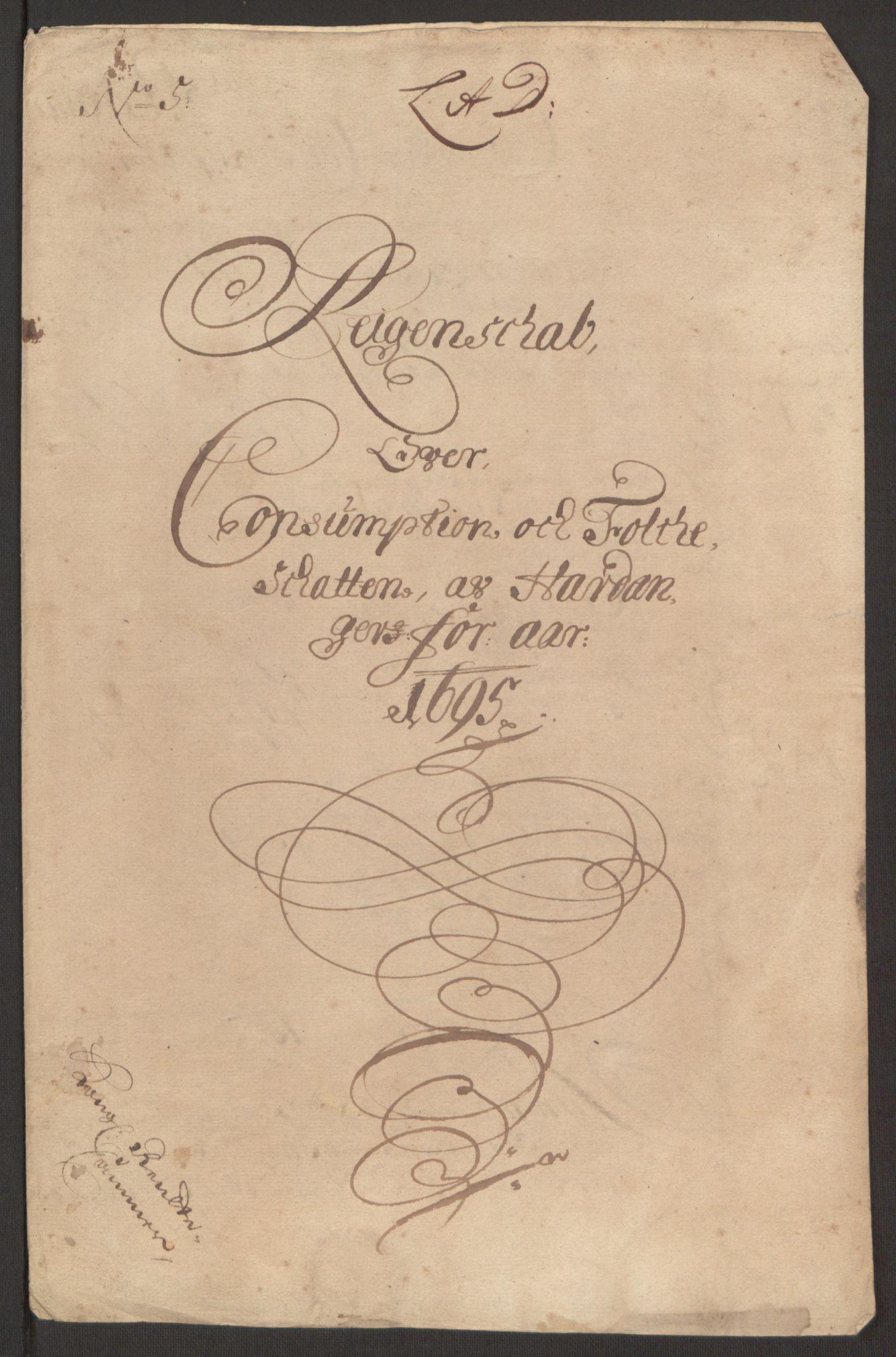 RA, Rentekammeret inntil 1814, Reviderte regnskaper, Fogderegnskap, R48/L2976: Fogderegnskap Sunnhordland og Hardanger, 1695-1696, s. 157