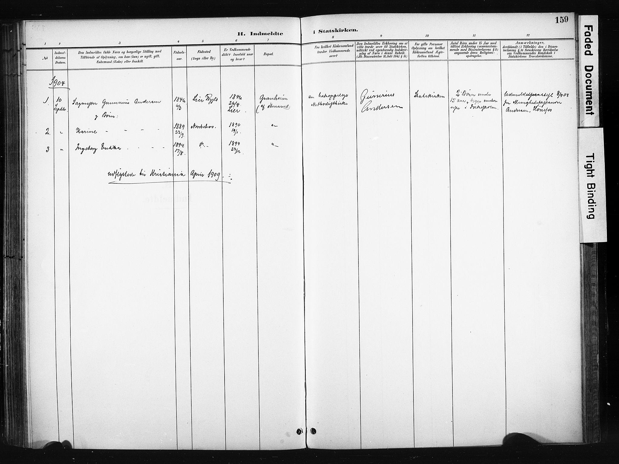 SAH, Søndre Land prestekontor, K/L0004: Ministerialbok nr. 4, 1895-1904, s. 159