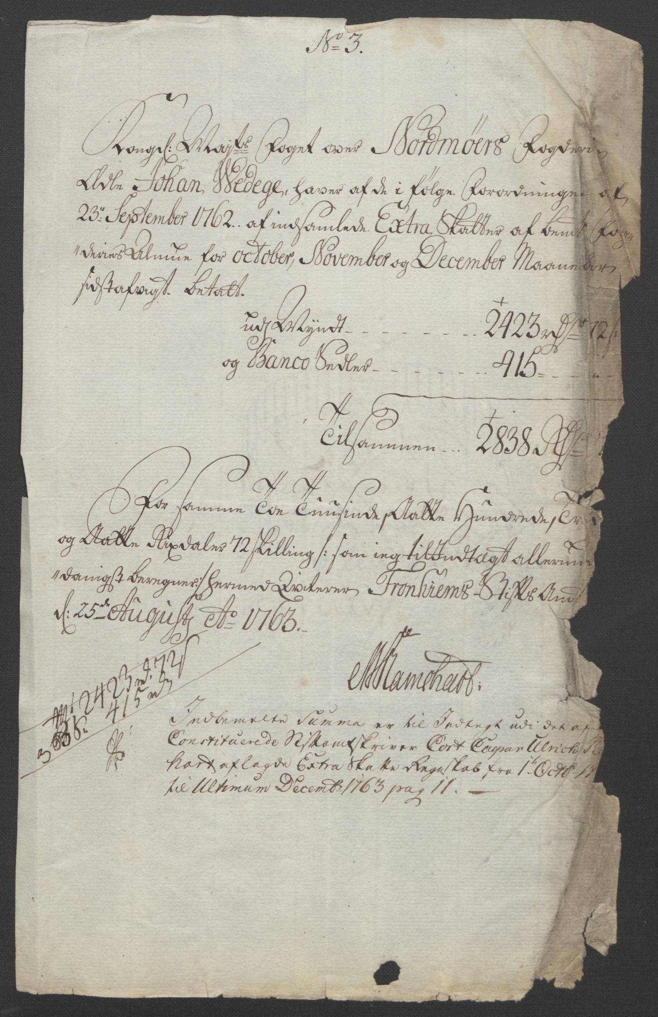 RA, Rentekammeret inntil 1814, Reviderte regnskaper, Fogderegnskap, R56/L3841: Ekstraskatten Nordmøre, 1762-1763, s. 191