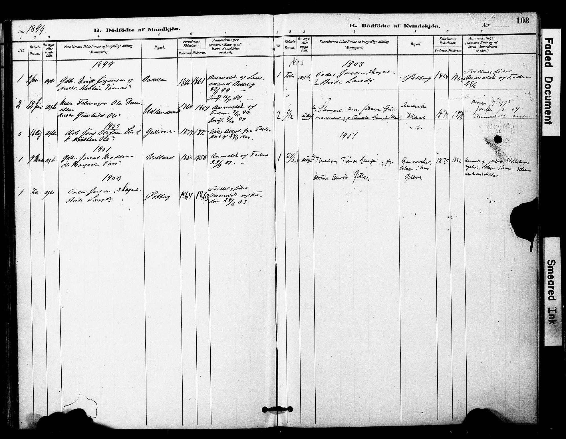 SAT, Ministerialprotokoller, klokkerbøker og fødselsregistre - Nord-Trøndelag, 757/L0505: Ministerialbok nr. 757A01, 1882-1904, s. 103