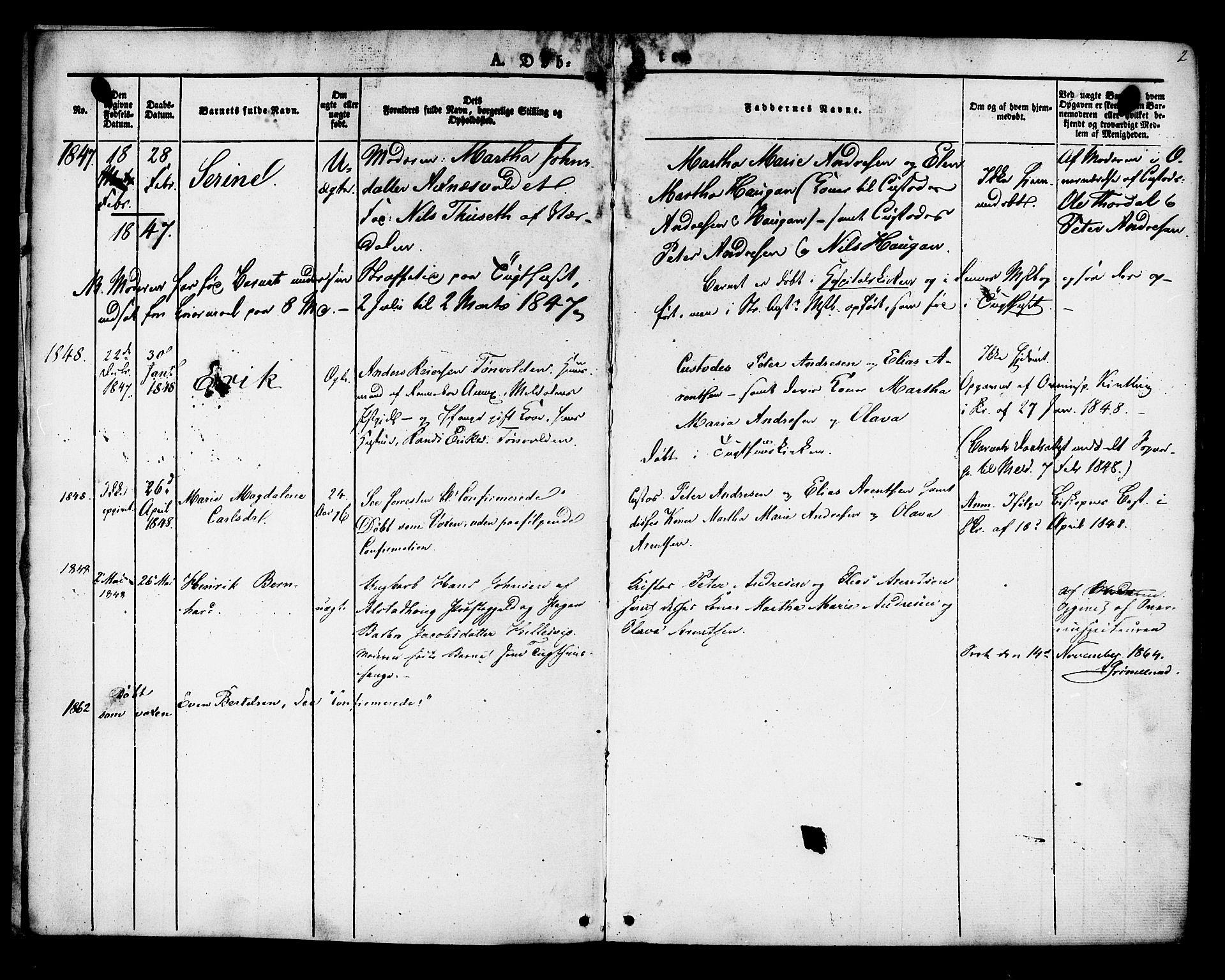 SAT, Ministerialprotokoller, klokkerbøker og fødselsregistre - Sør-Trøndelag, 624/L0480: Ministerialbok nr. 624A01, 1841-1864, s. 2