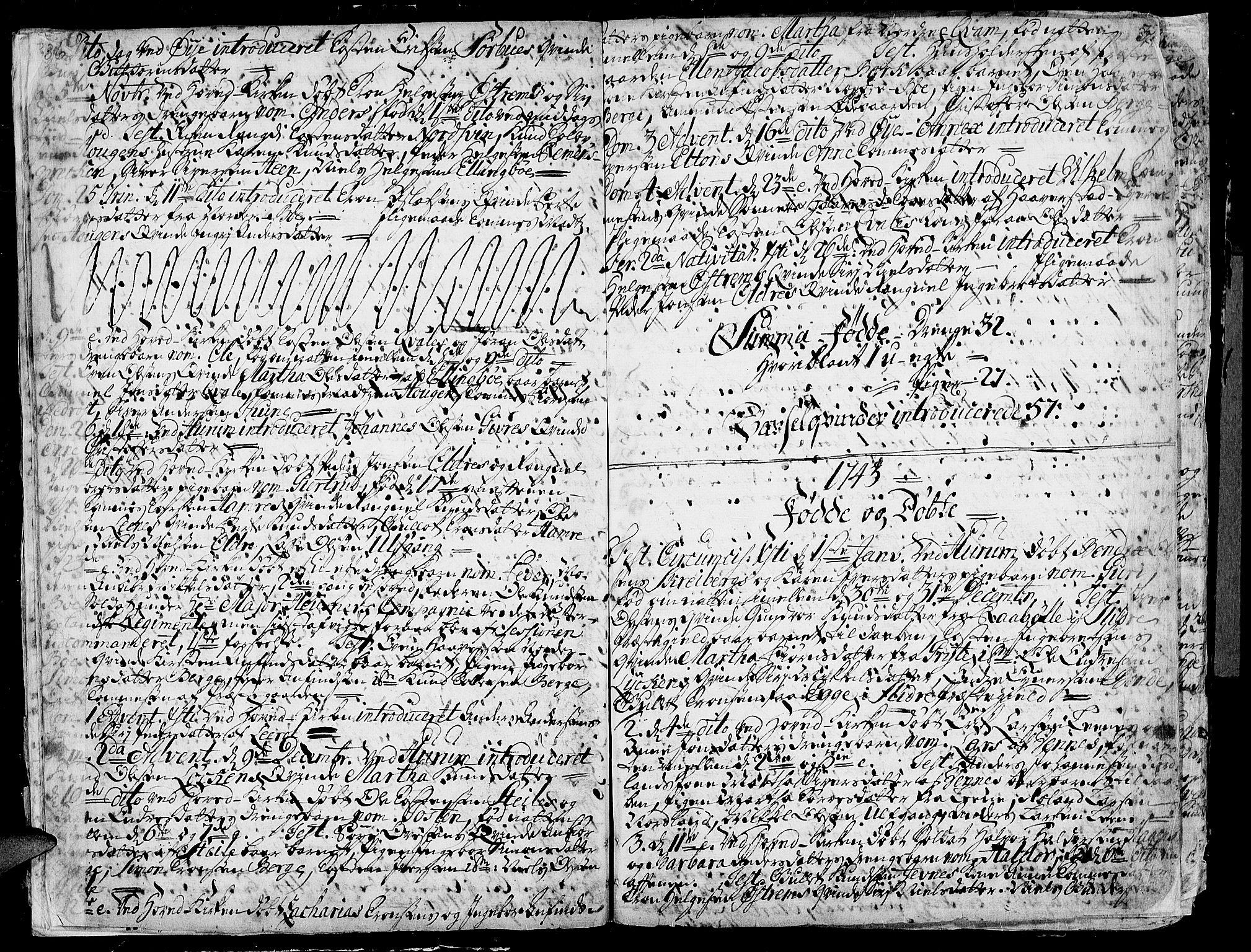 SAH, Vang prestekontor, Valdres, Ministerialbok nr. 1, 1730-1796, s. 36-37