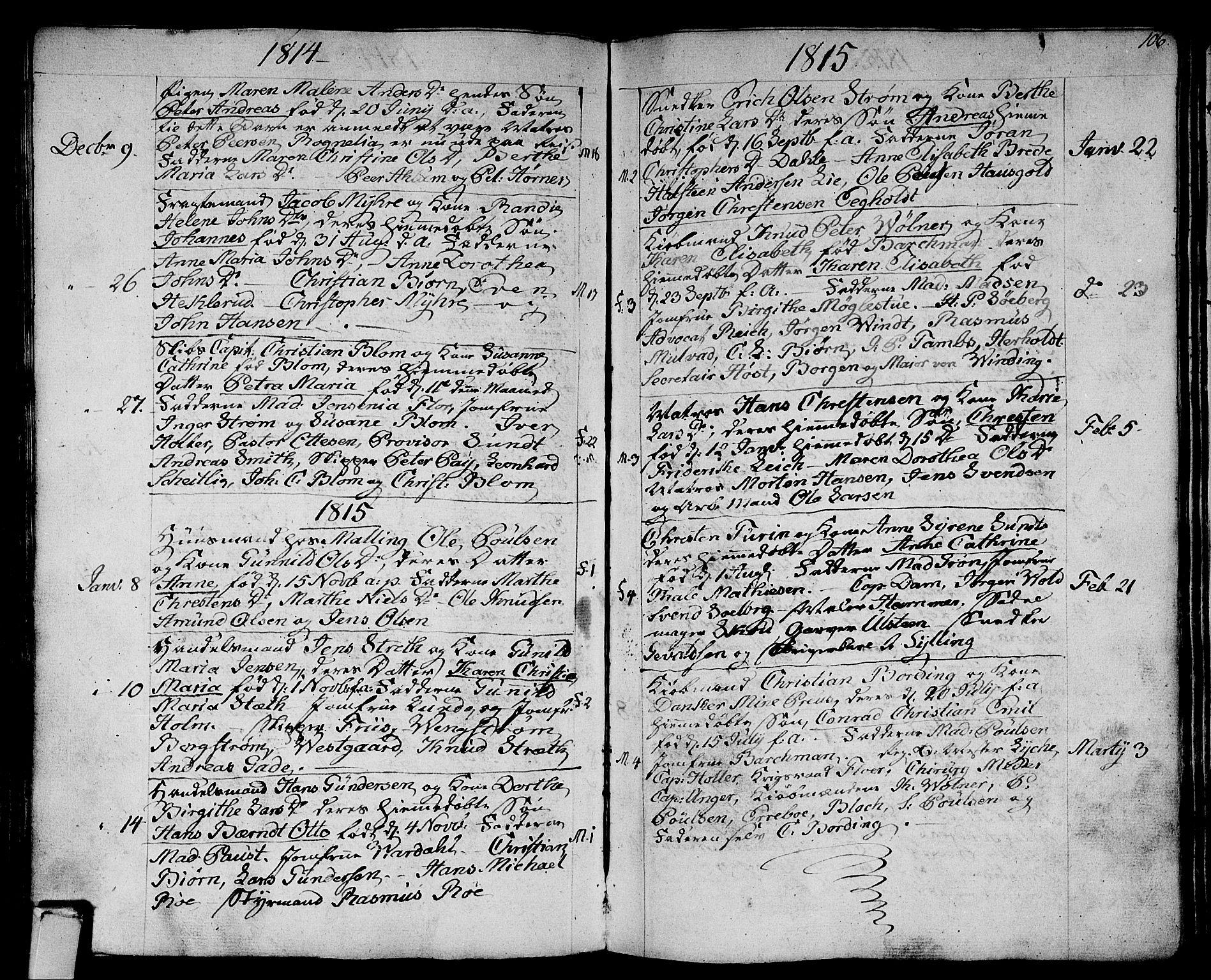 SAKO, Strømsø kirkebøker, F/Fa/L0010: Ministerialbok nr. I 10, 1792-1822, s. 106