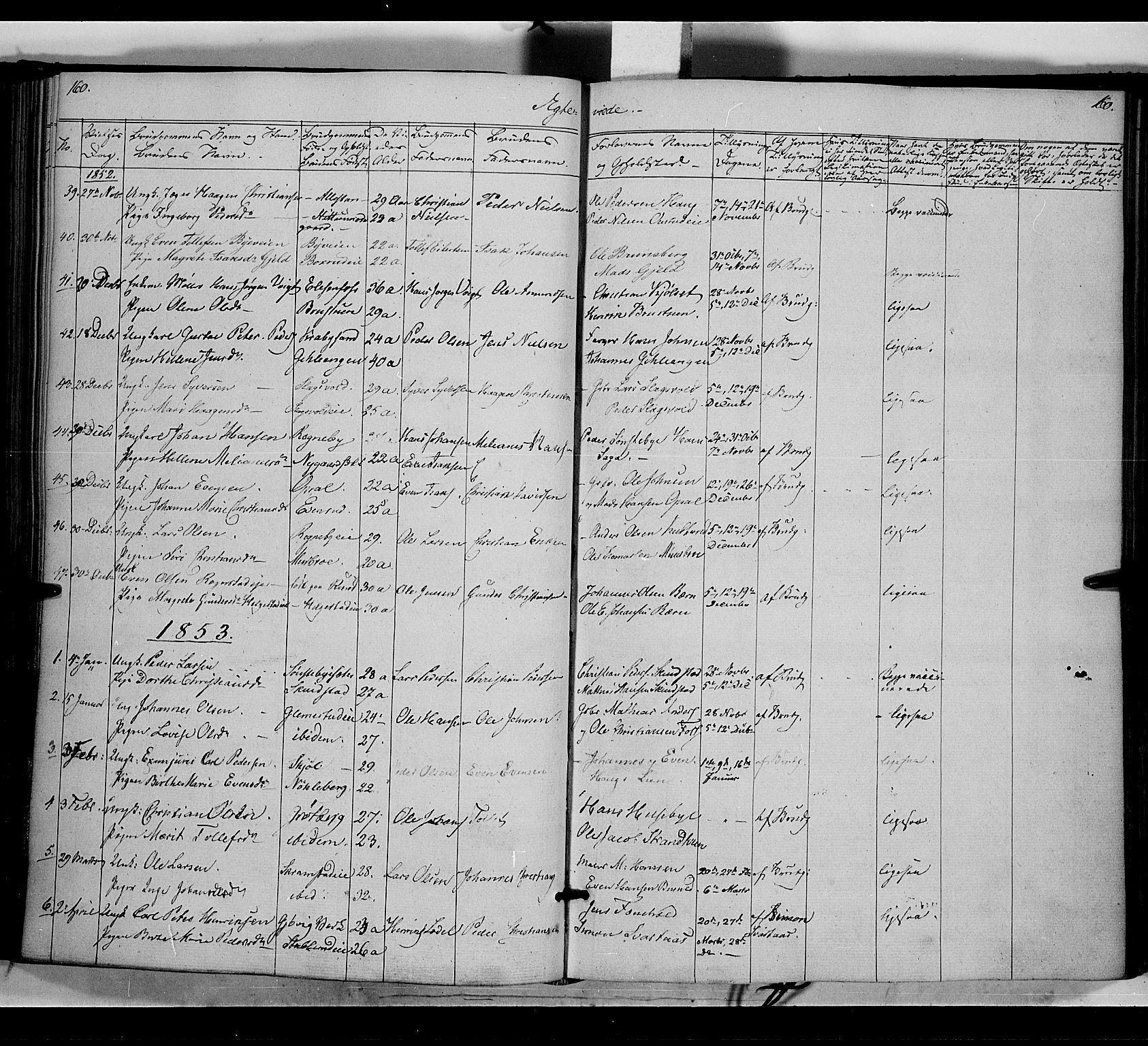 SAH, Østre Toten prestekontor, Ministerialbok nr. 3, 1848-1856, s. 160