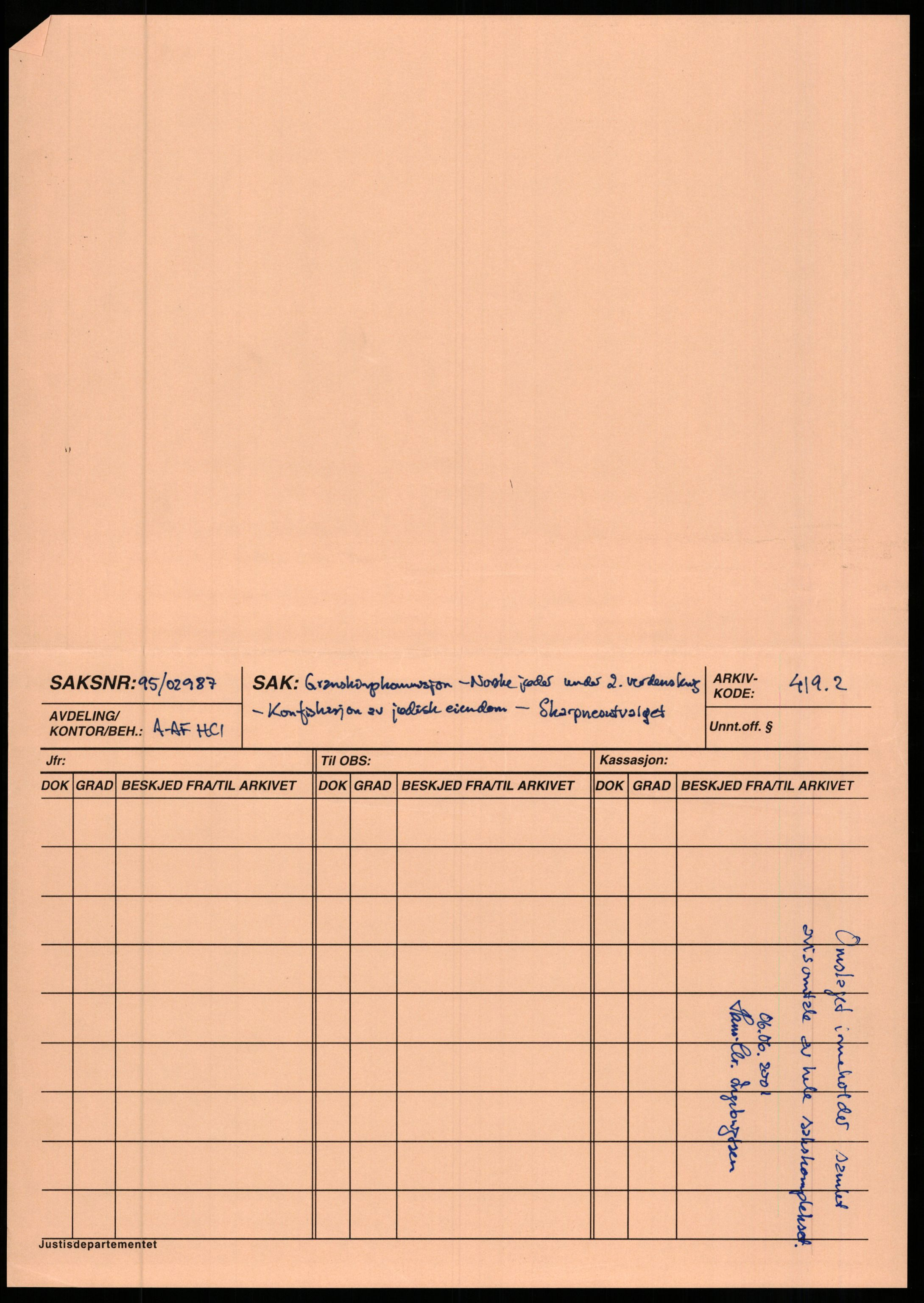 RA, Justisdepartementet, Sivilavdelingen (RA/S-6490), 1995-1997, s. 2