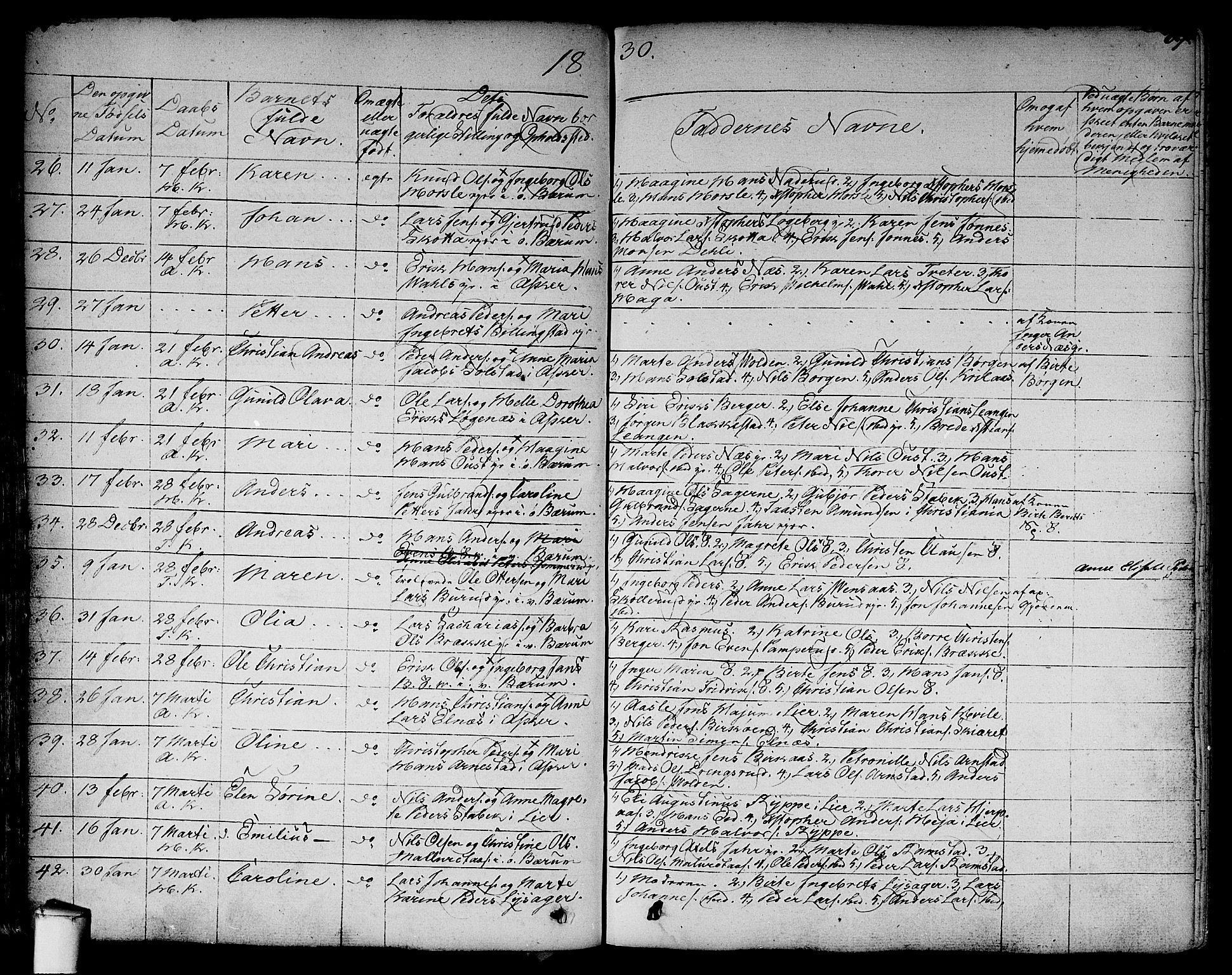 SAO, Asker prestekontor Kirkebøker, F/Fa/L0007: Ministerialbok nr. I 7, 1825-1864, s. 69
