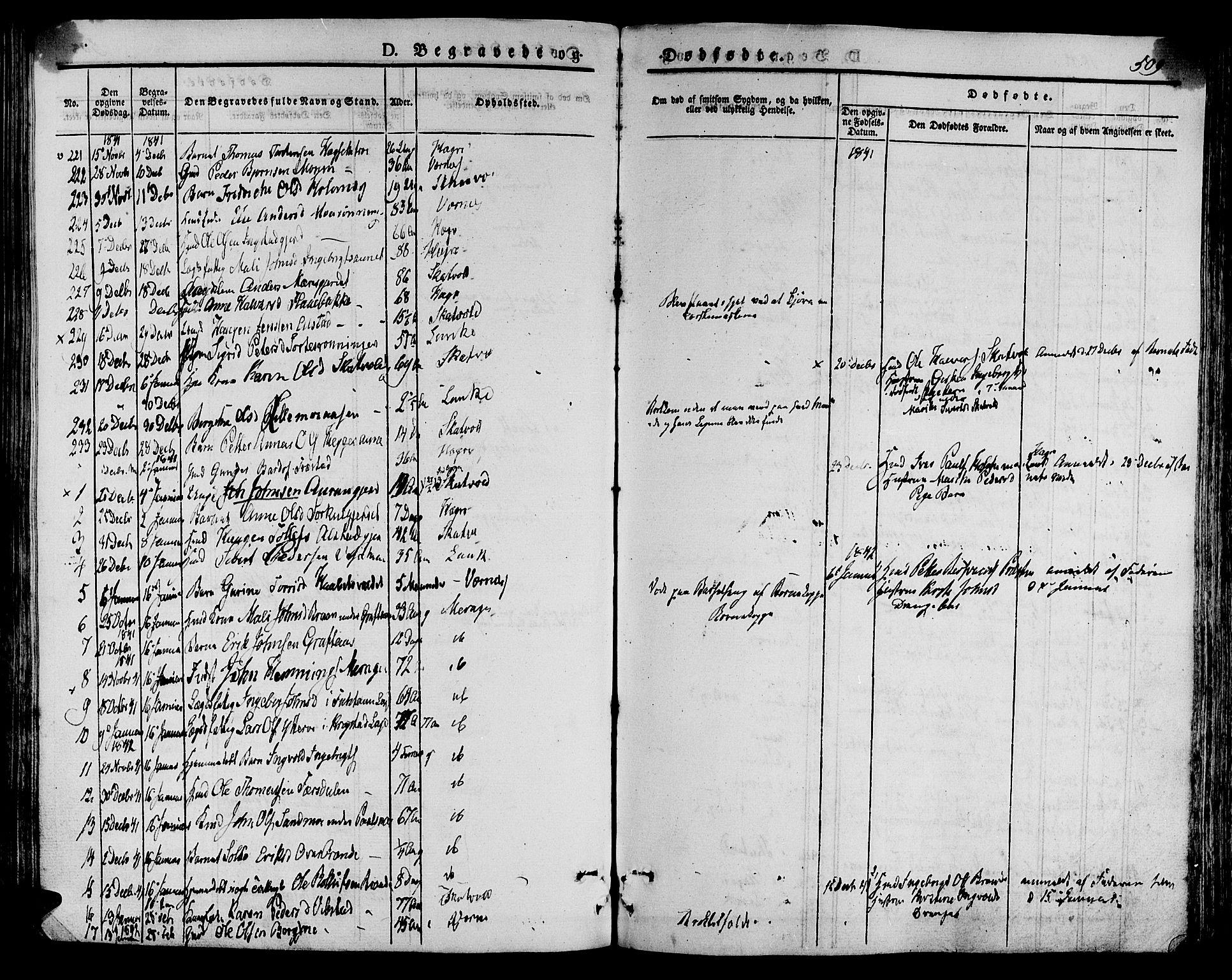 SAT, Ministerialprotokoller, klokkerbøker og fødselsregistre - Nord-Trøndelag, 709/L0072: Ministerialbok nr. 709A12, 1833-1844, s. 509