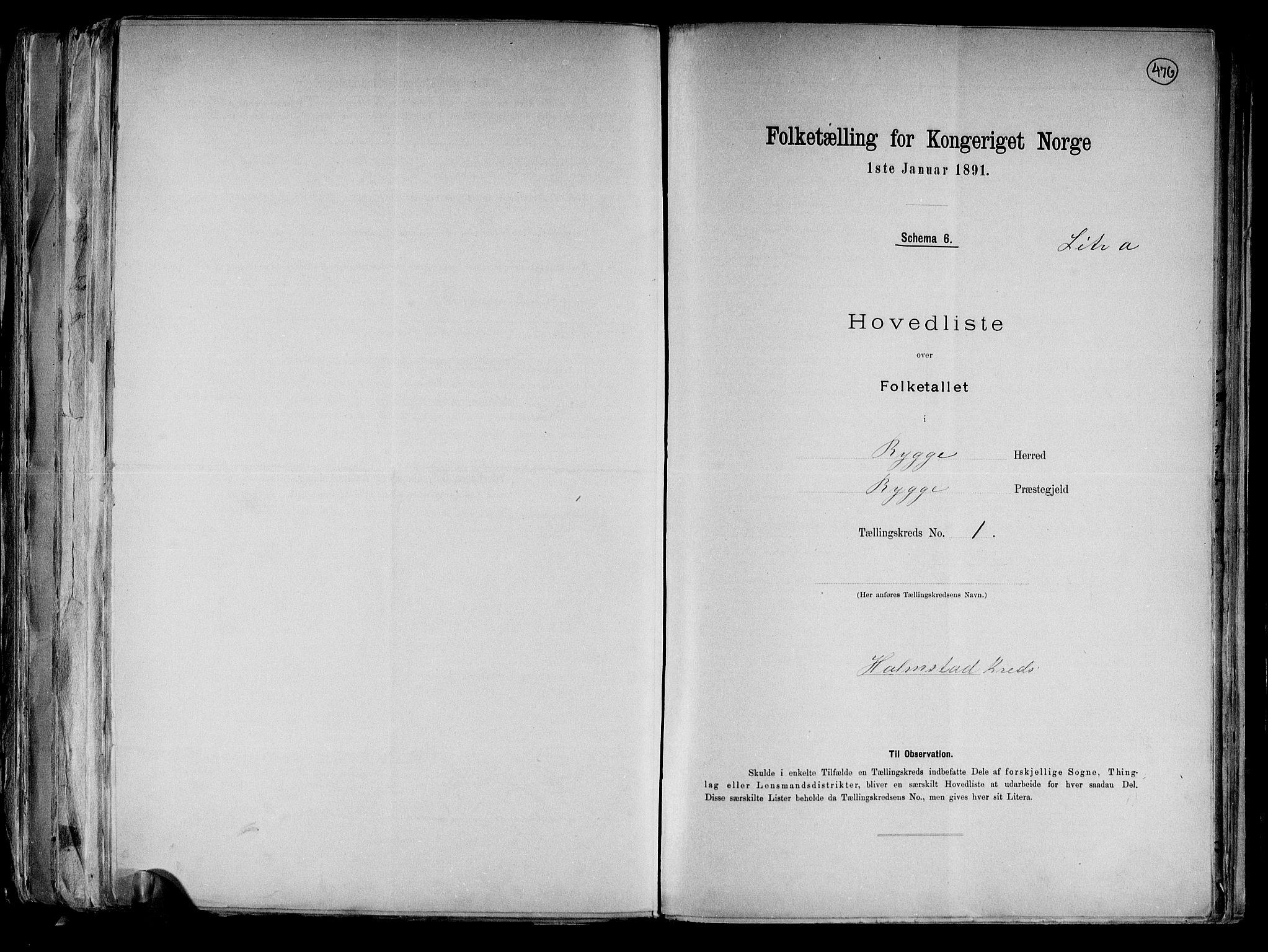 RA, Folketelling 1891 for 0136 Rygge herred, 1891, s. 4